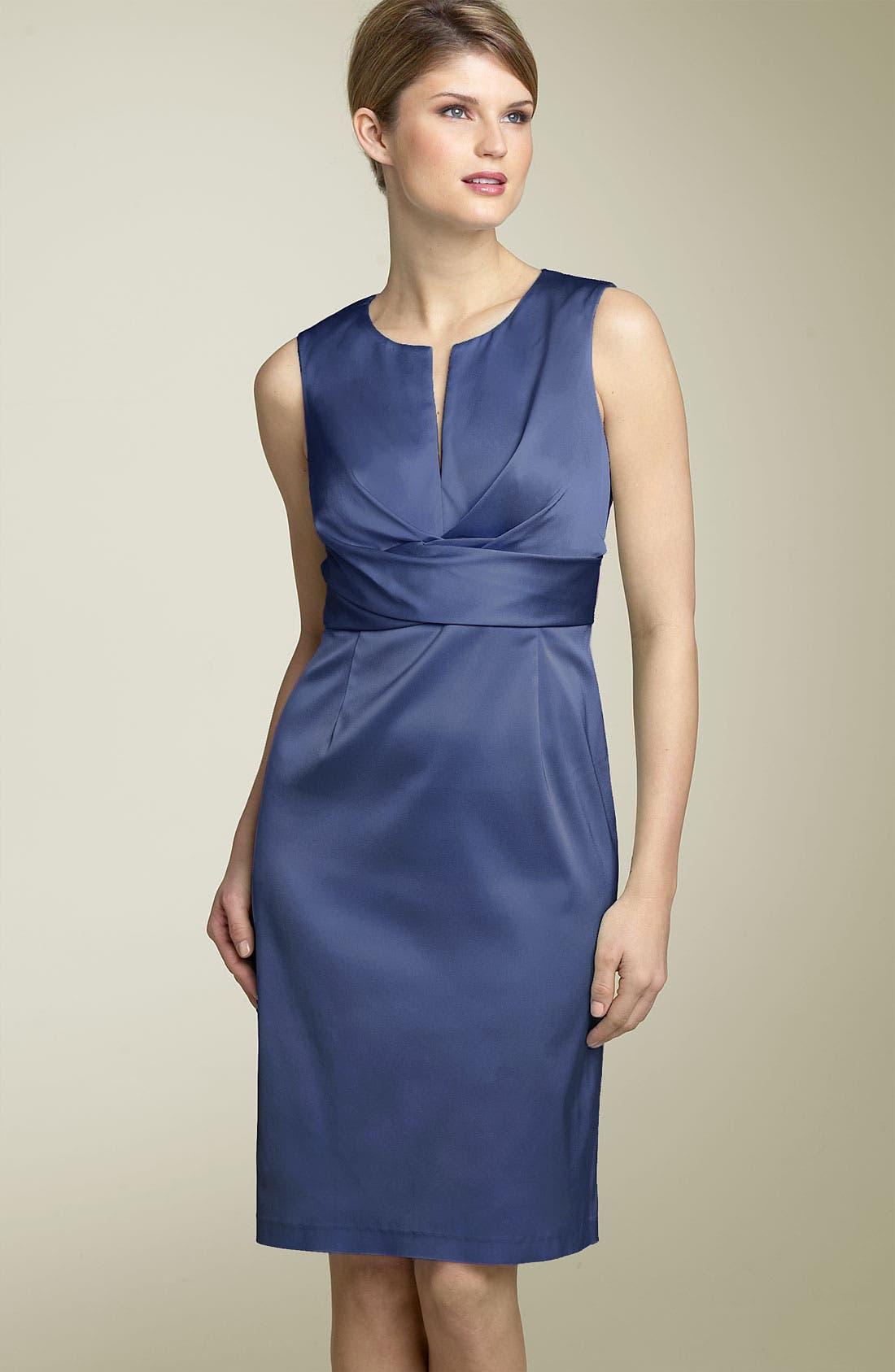 Main Image - Donna Ricco Split Neck Sheath Dress