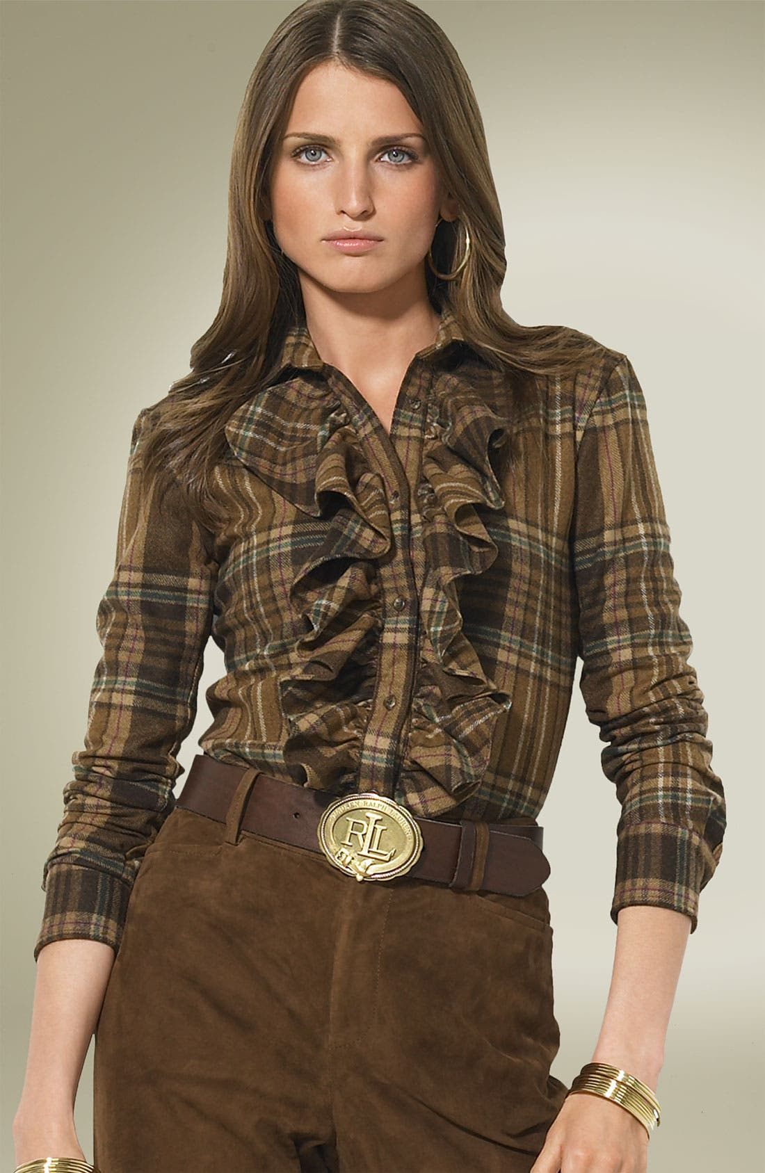 Main Image - Lauren by Ralph Lauren Plaid Shirt