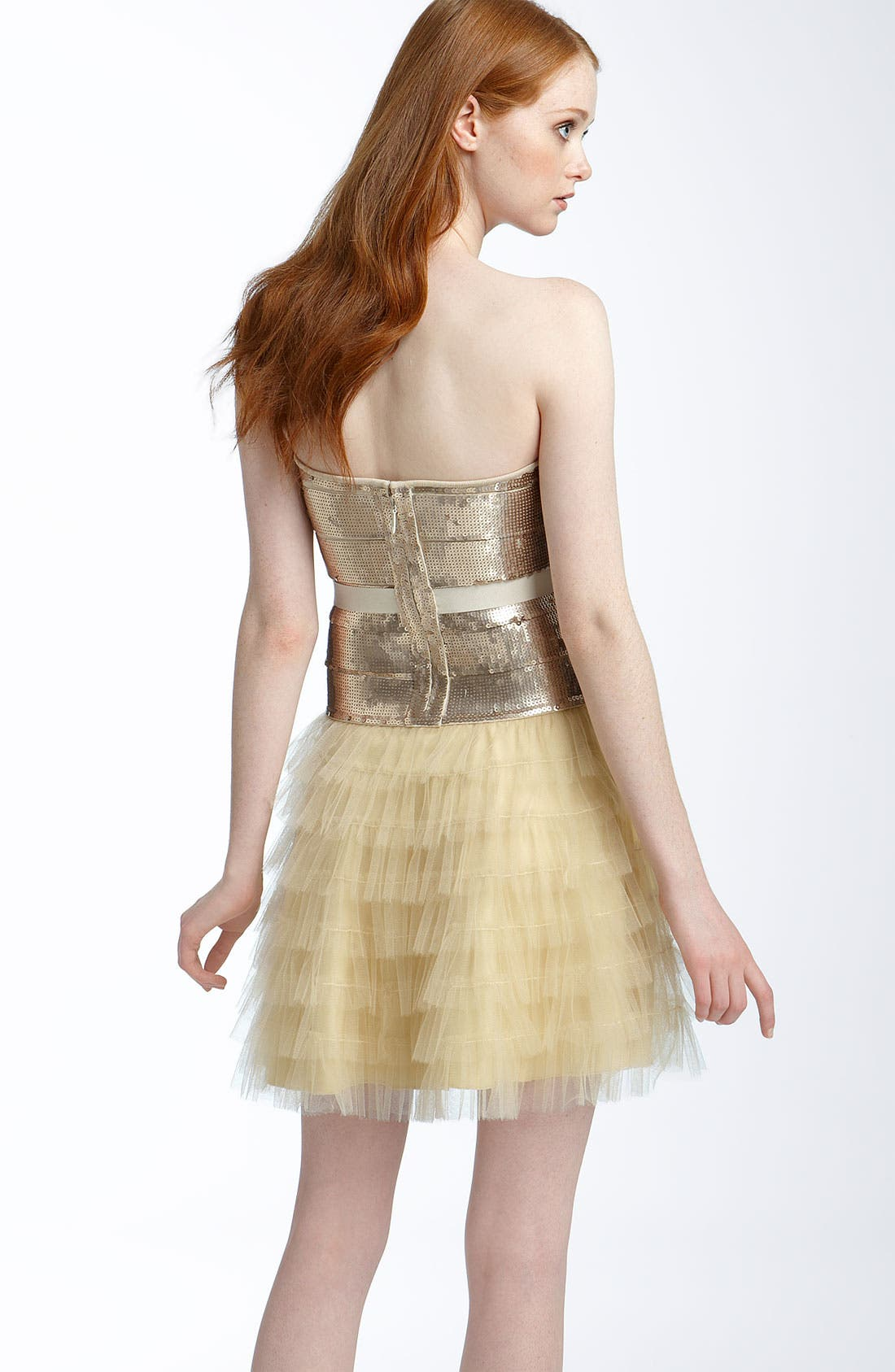 Alternate Image 2  - Haute Hippie Sequined Tulle Cocktail Dress