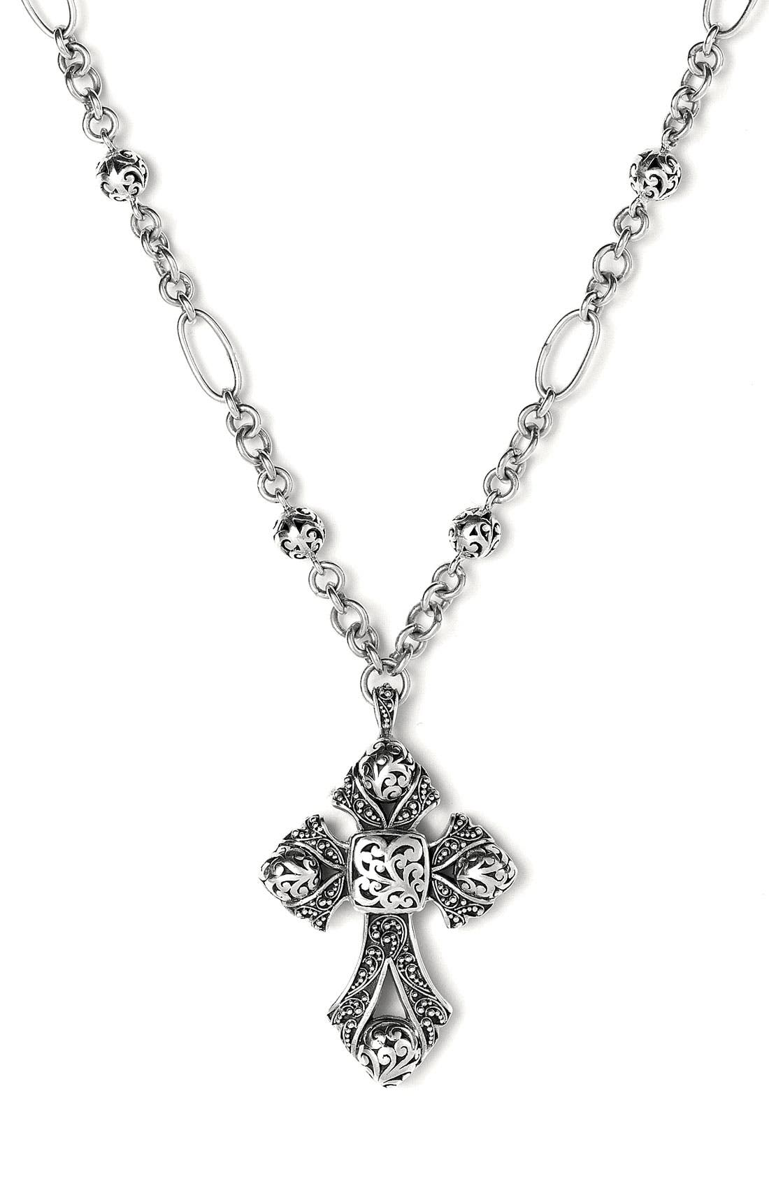 Main Image - Lois Hill Granulated Cross Necklace