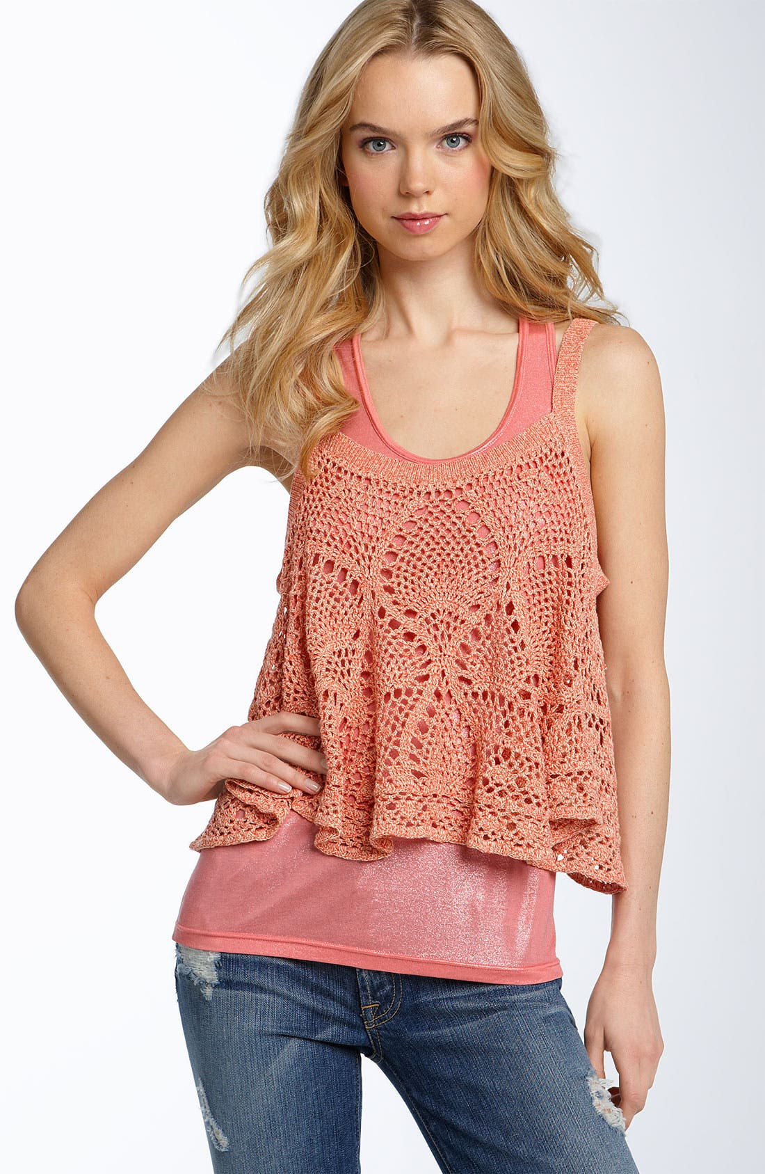 Main Image - Free People 'Carefree' Crochet Camisole