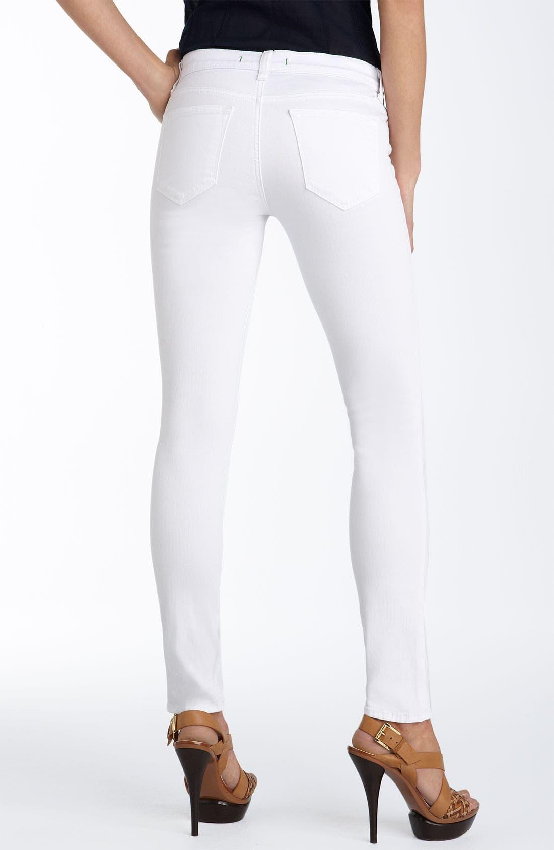 Alternate Image 2  - J Brand Stretch Denim Leggings (White Wash)