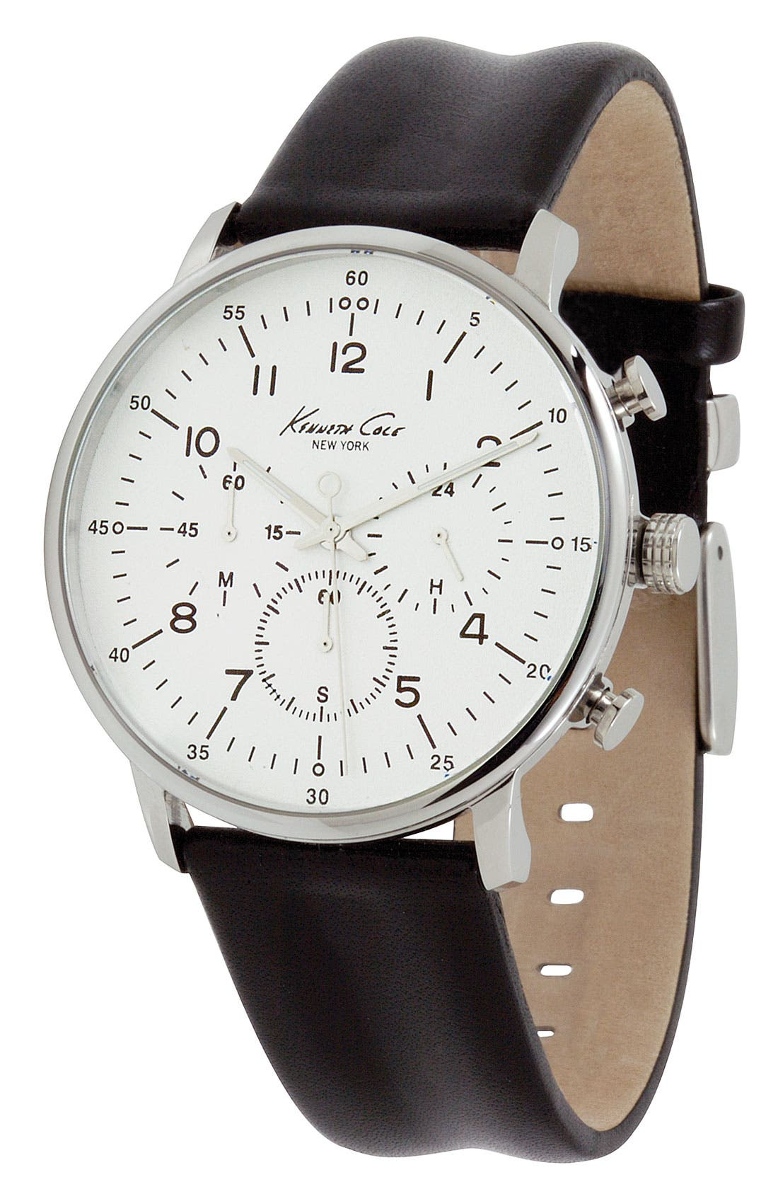 Main Image - Kenneth Cole New York Round Case Watch, 42mm