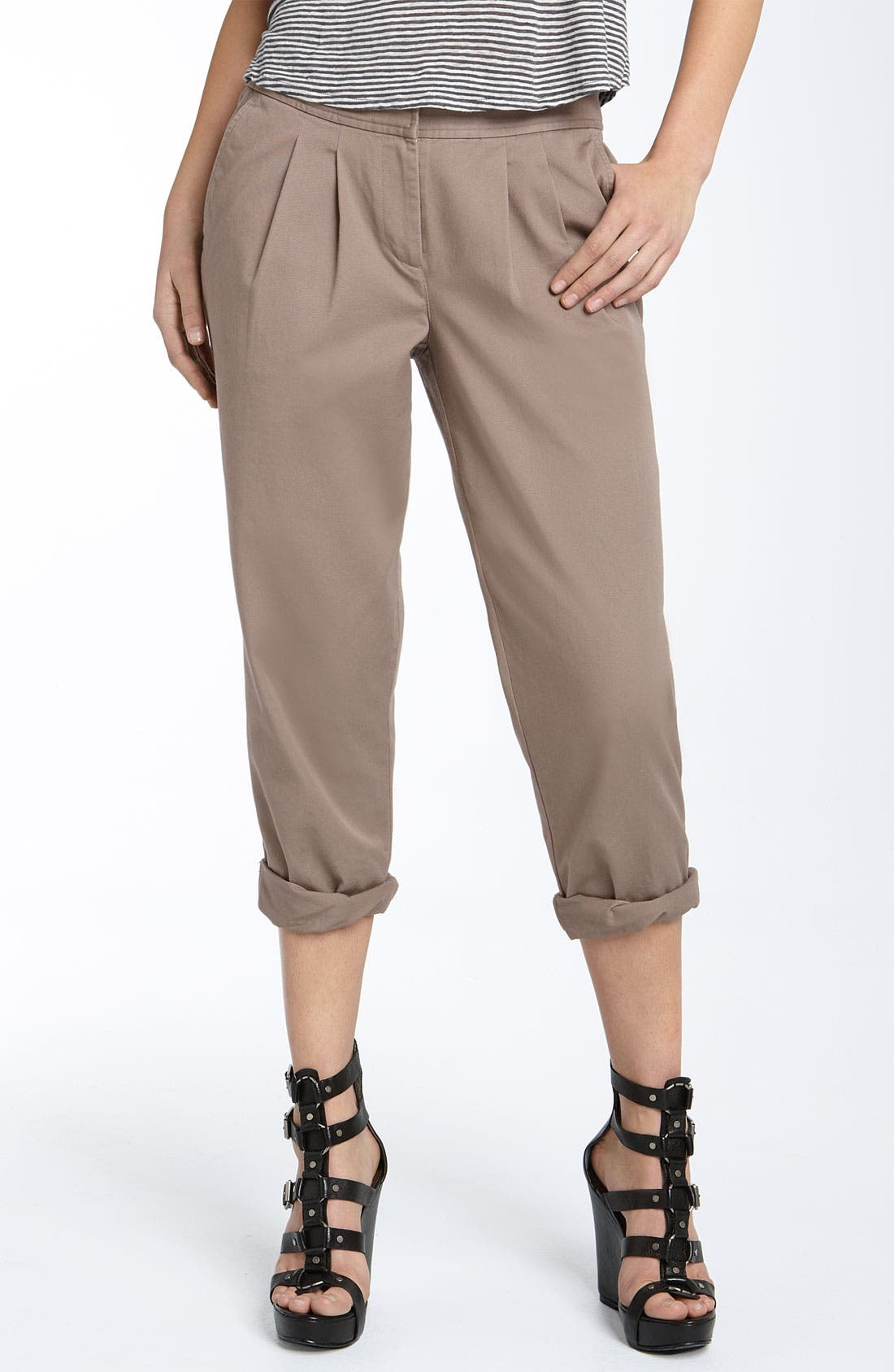 Alternate Image 1 Selected - Hinge® Roll Cuff Cotton Pants