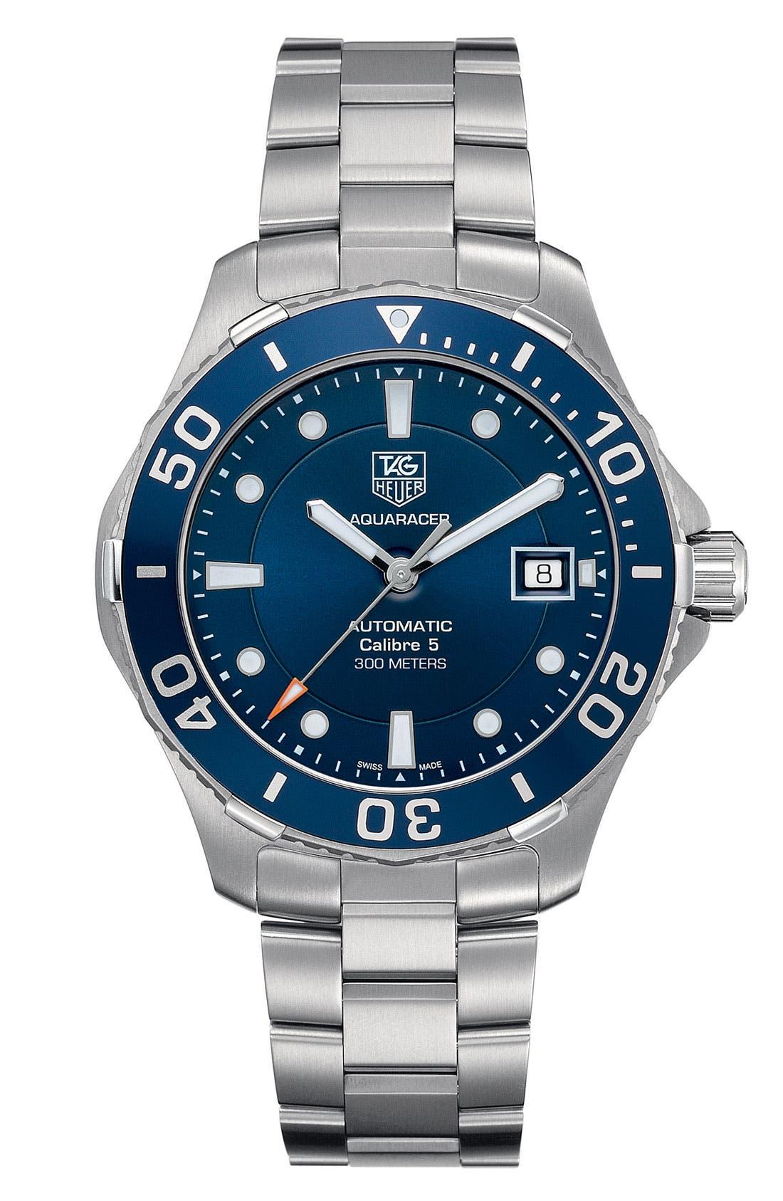 Main Image - TAG Heuer 'Aquaracer' Automatic Bracelet Watch