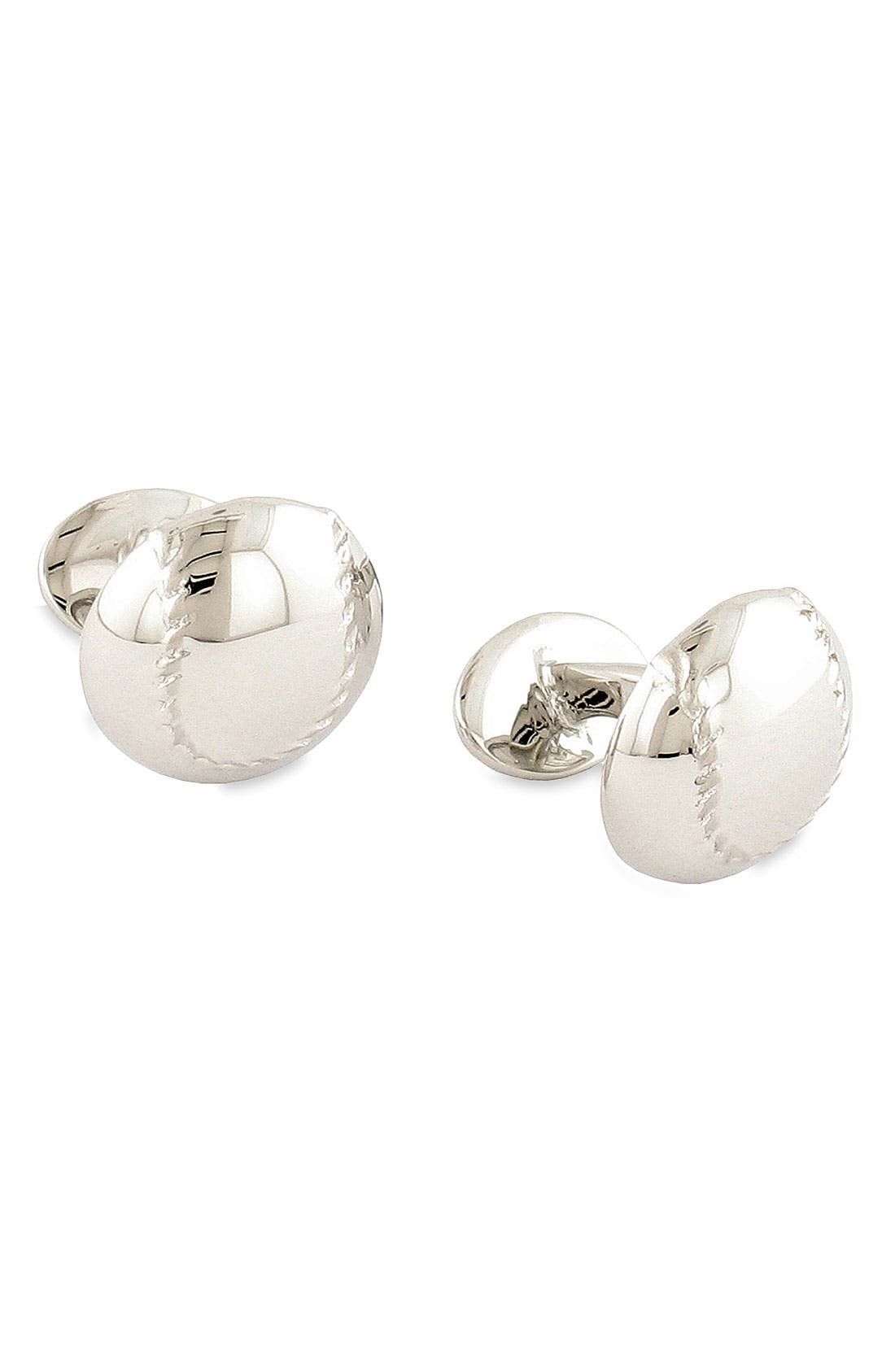 Alternate Image 1 Selected - David Donahue 'Baseball' Sterling Silver Cuff Links
