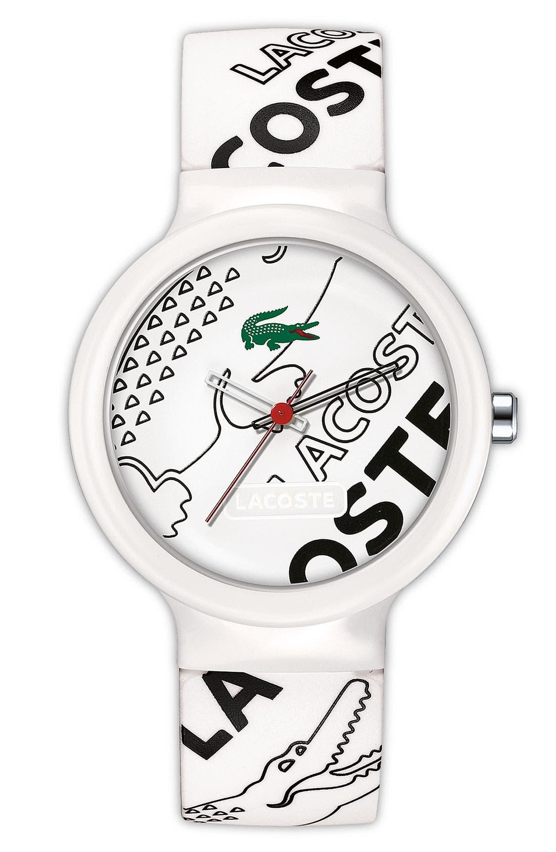 Main Image - Lacoste 'Goa' Logo Strap Watch, 40mm