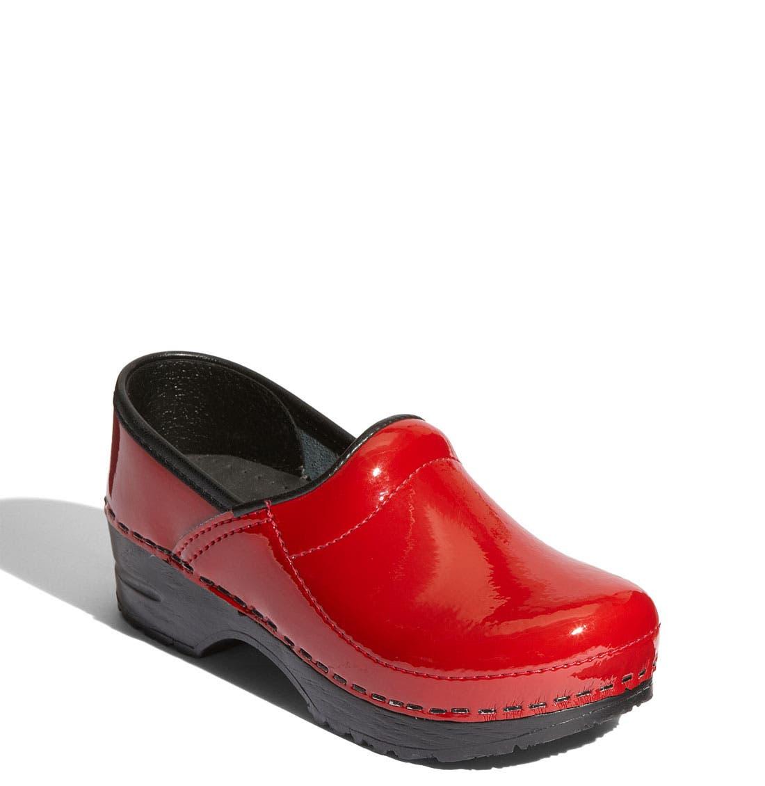 Alternate Image 1 Selected - Sanita 'Gitte' Patent Leather Clog (Toddler, Little Kid & Big Kid)