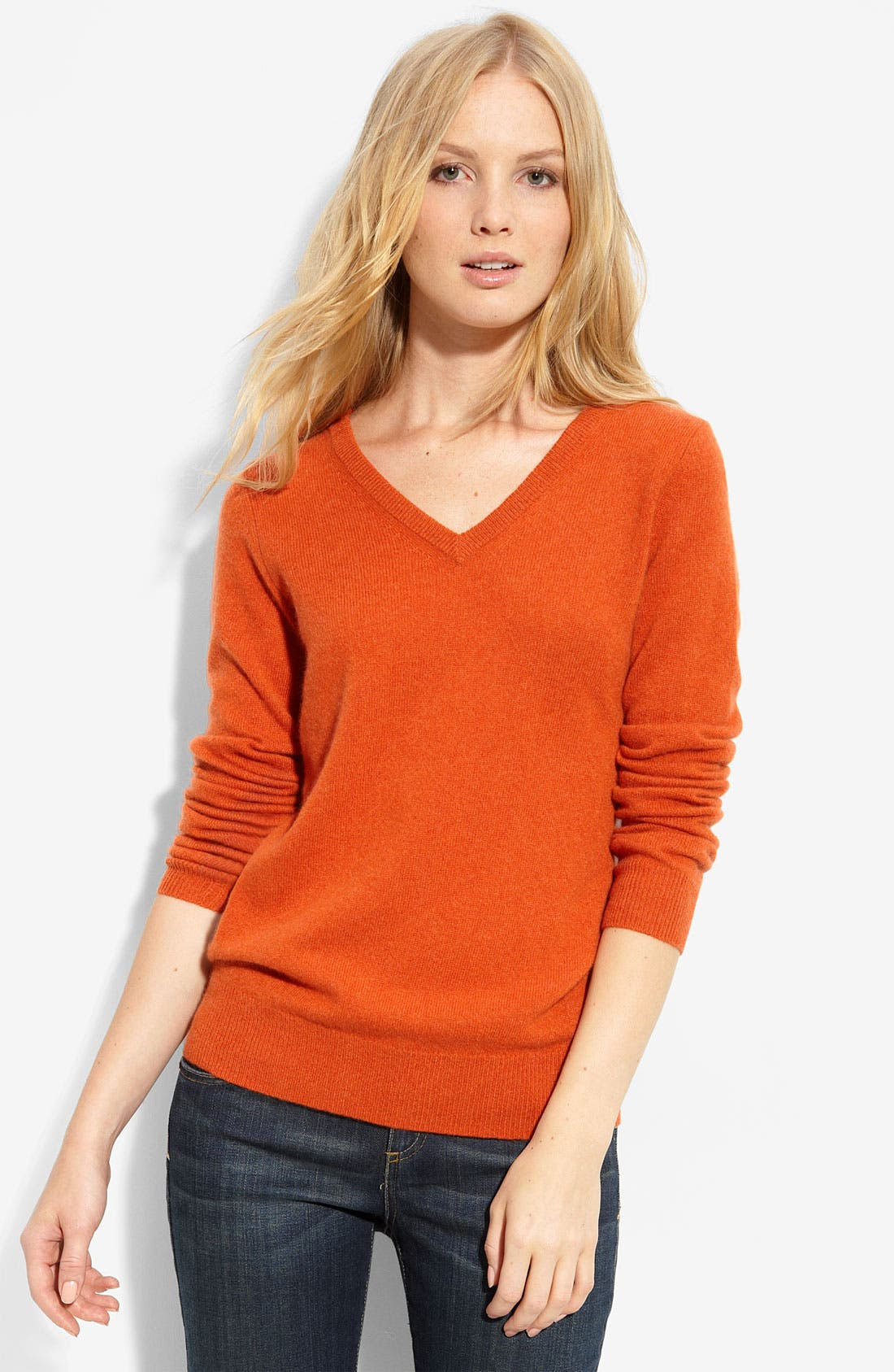 Alternate Image 1 Selected - Only Mine V-Neck Cashmere Sweater