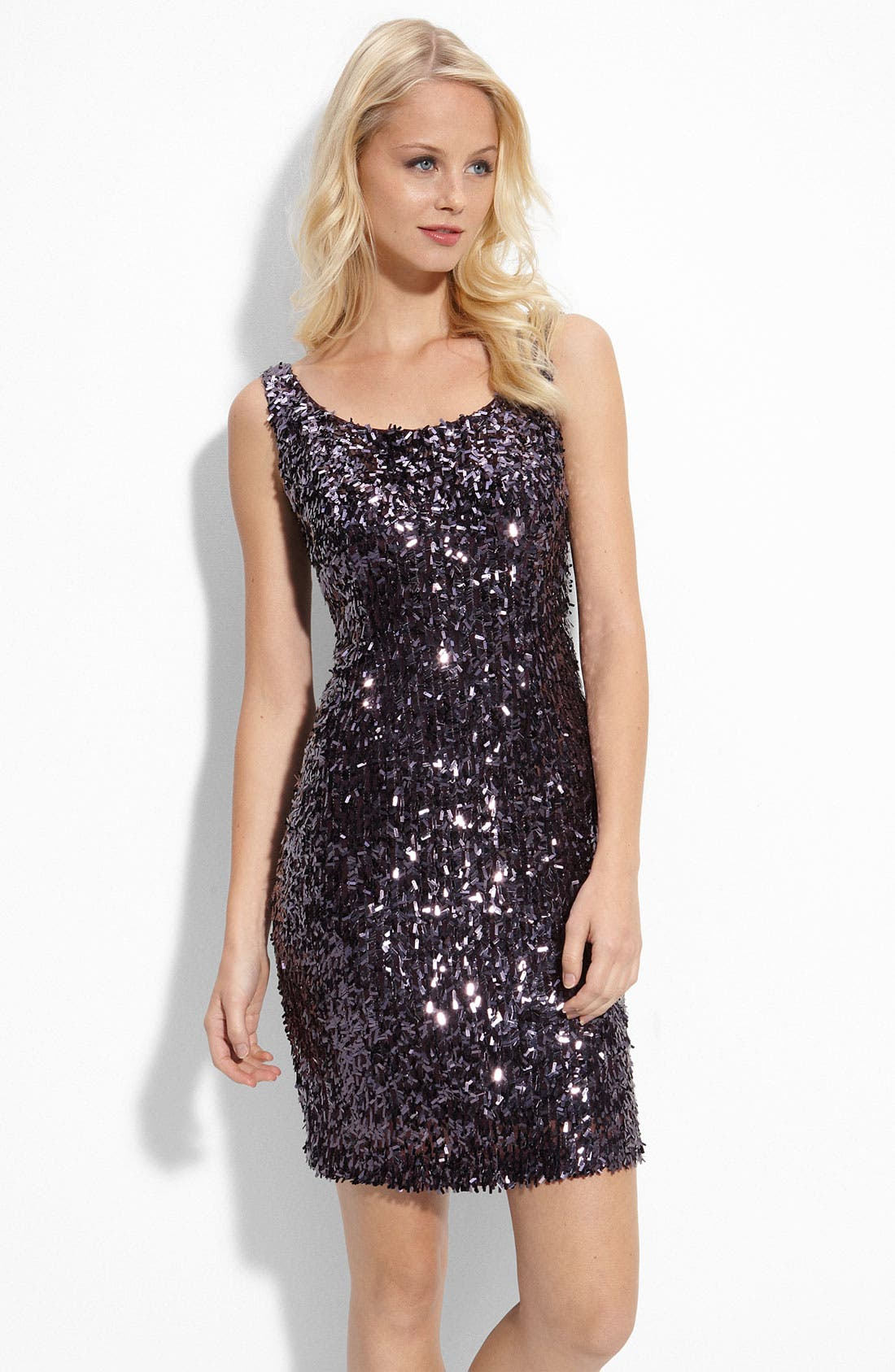 Alternate Image 1 Selected - Suzi Chin for Maggy Boutique Sequin Shift Dress