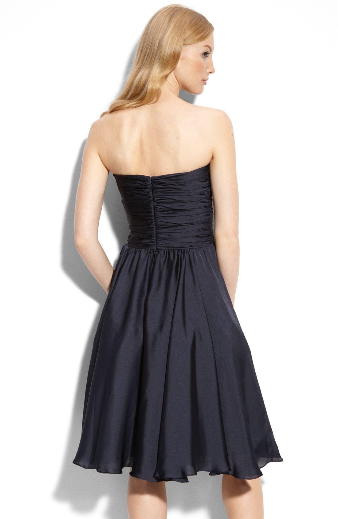 Alternate Image 2  - ML Monique Lhuillier Bridesmaids Strapless Dress