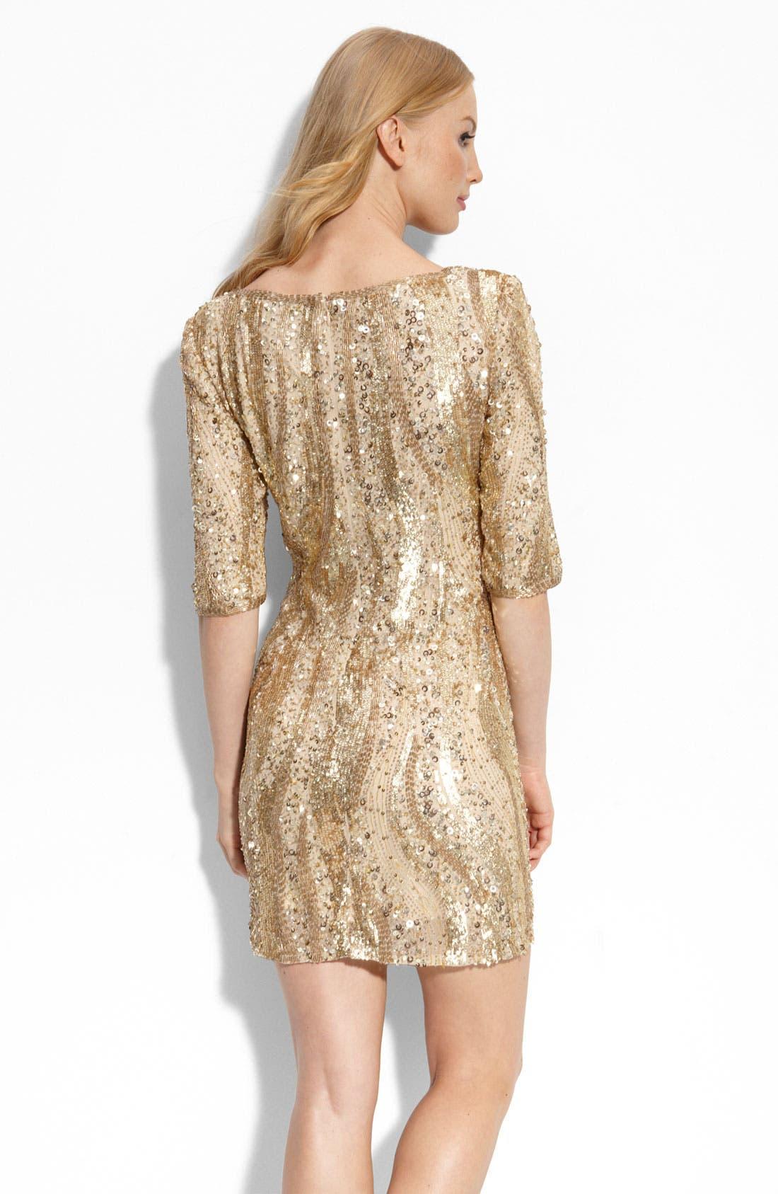 Alternate Image 2  - Adrianna Papell Beaded Sheath Dress
