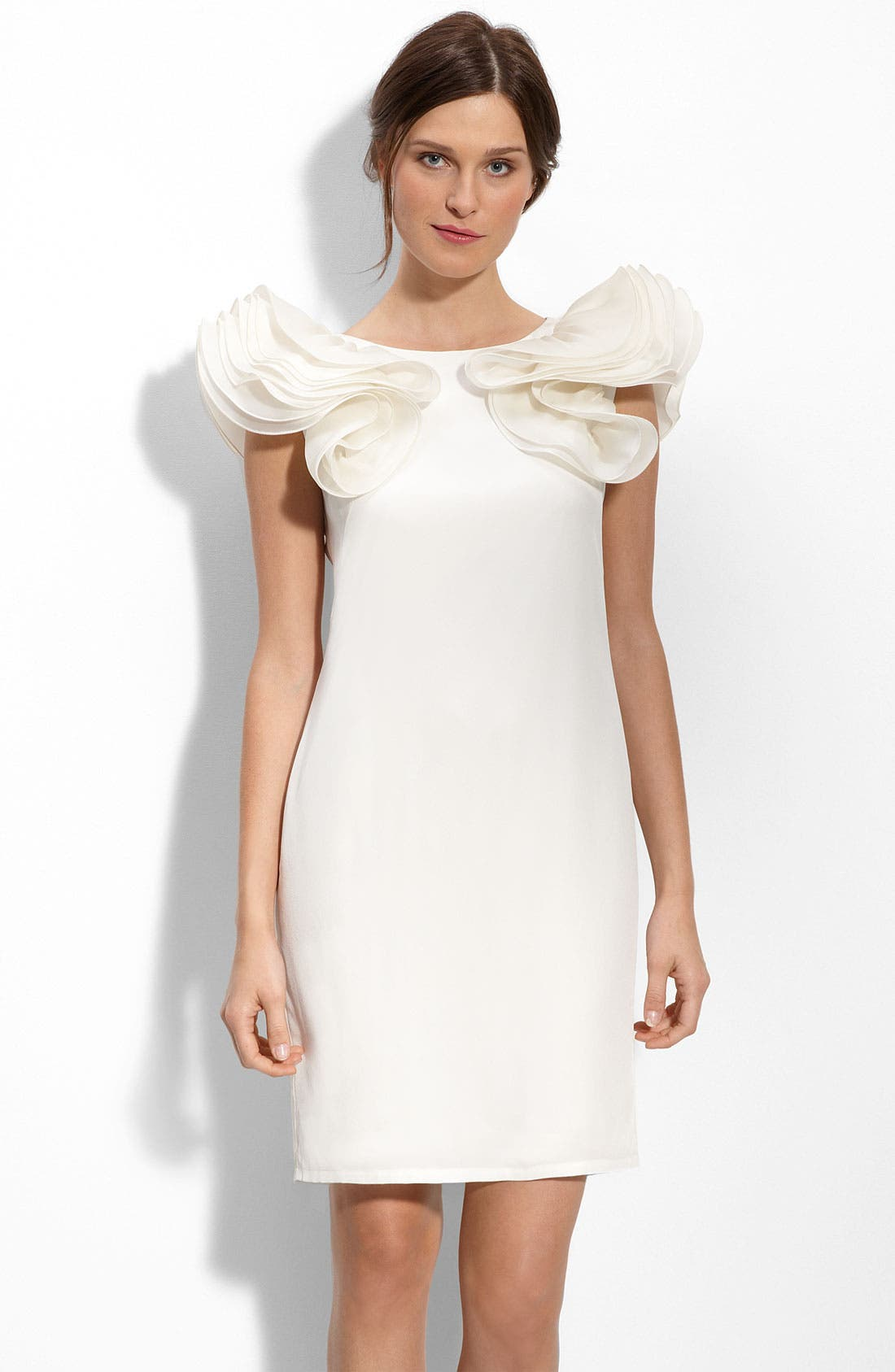 Main Image - Eliza J Ruffle Sleeve Shift Dress