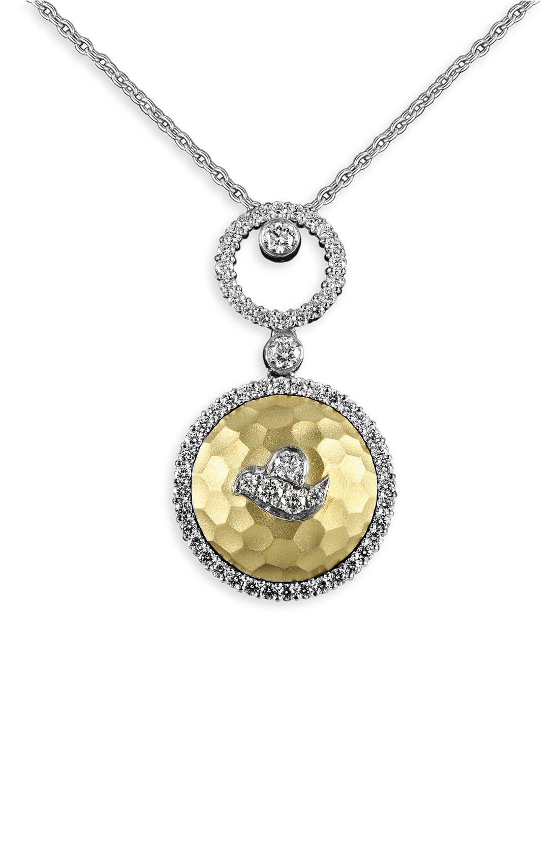 Alternate Image 1 Selected - Jack Kelége 'Byzantine' Double Drop Diamond Pendant Necklace