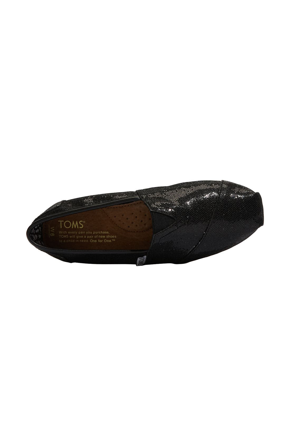 Alternate Image 3  - TOMS 'Classic - Glitter' Slip-On (Women)