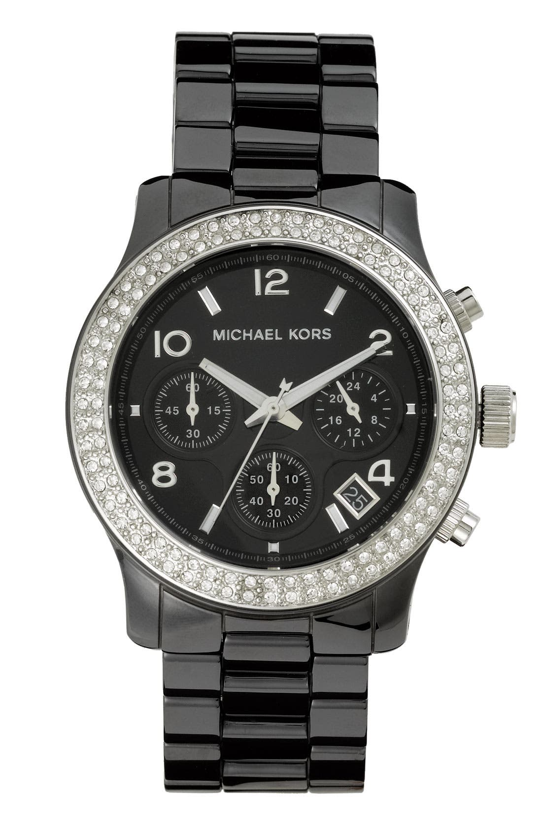 Main Image - Michael Kors 'Runway Ceramic' Watch, 40mm