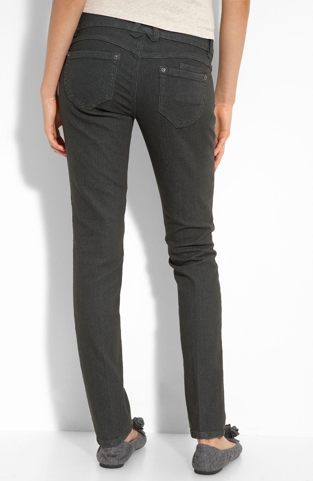 Alternate Image 1 Selected - Jolt Skinny Jeans (Indigo Wash) (Juniors)