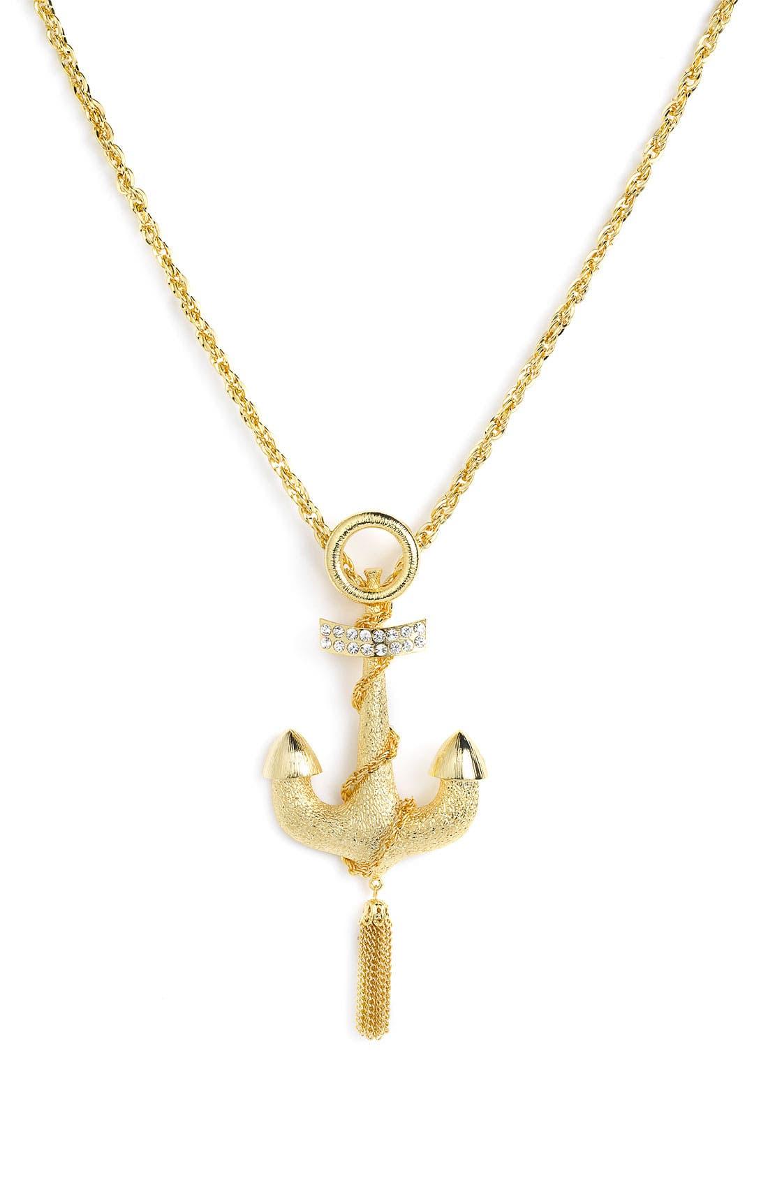 Main Image - Spring Street Design Group Anchor Pendant Necklace