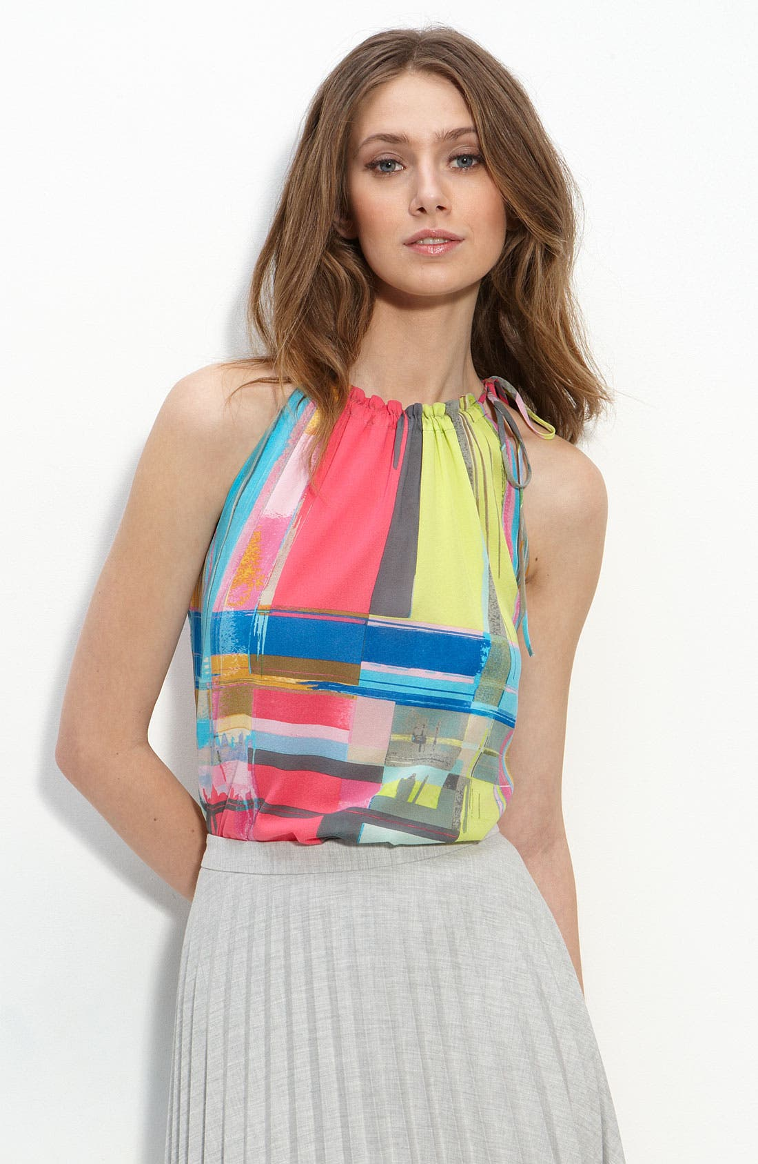 Main Image - Trina Turk 'Flora' Stretch Silk Top
