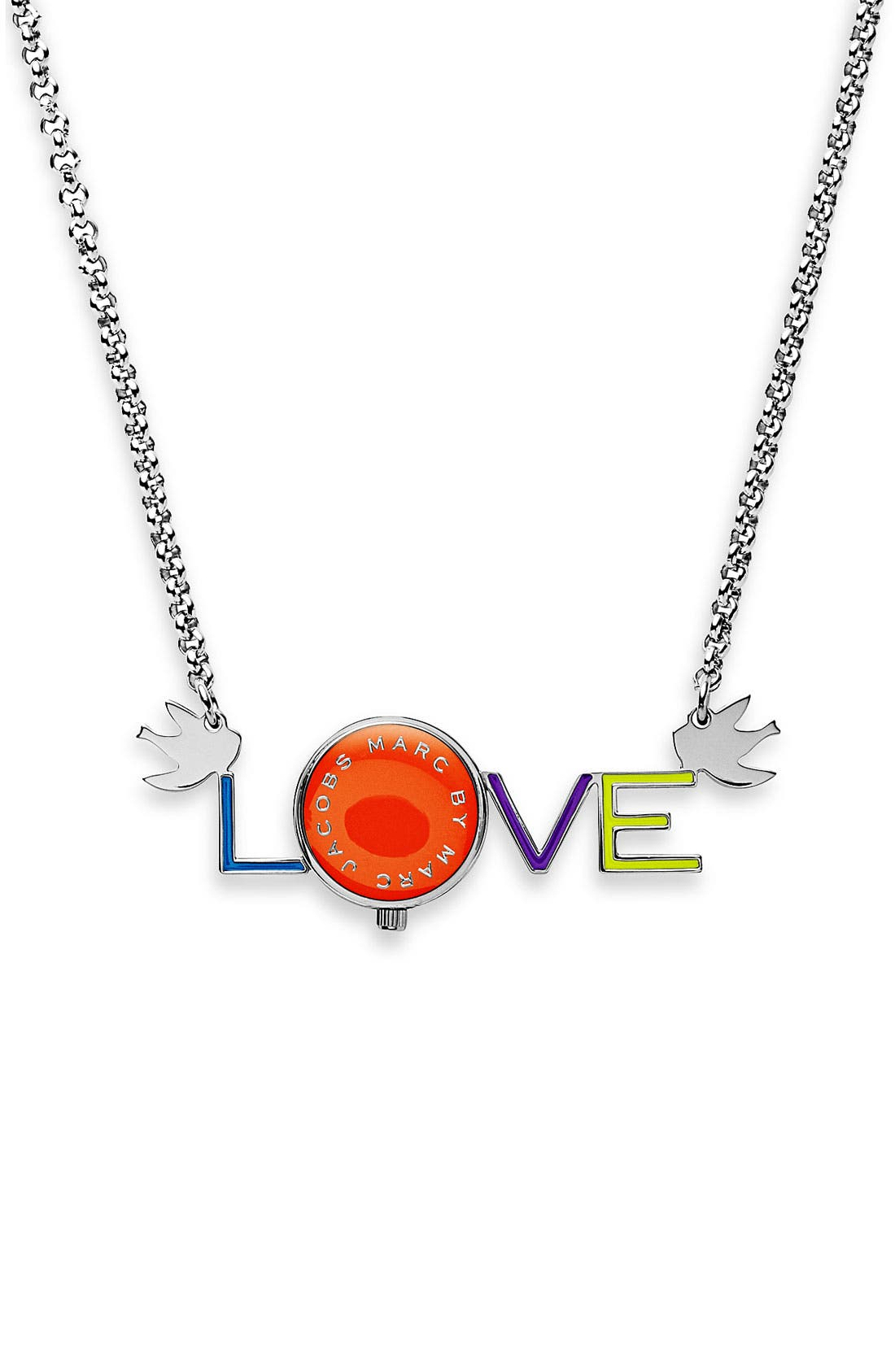 Alternate Image 1 Selected - MARC BY MARC JACOBS 'Love' Watch Necklace
