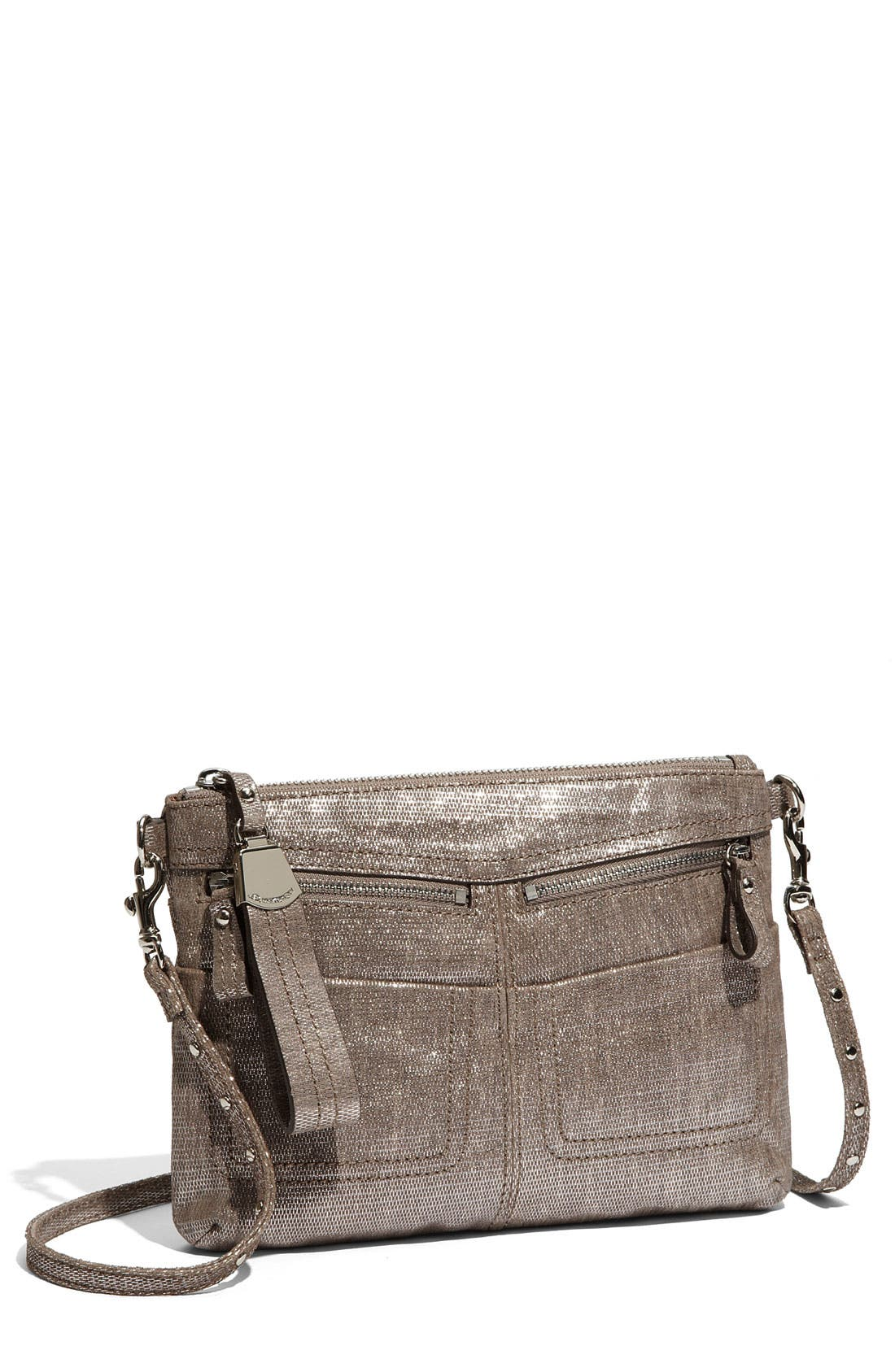 Alternate Image 1 Selected - B. Makowsky 'Ollie' Textured Leather Crossbody Bag