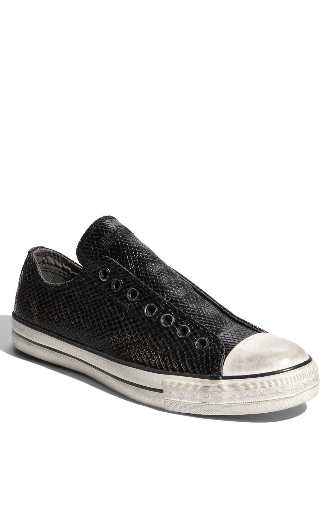 Main Image - Converse Chuck Taylor® Textured Leather Slip-On