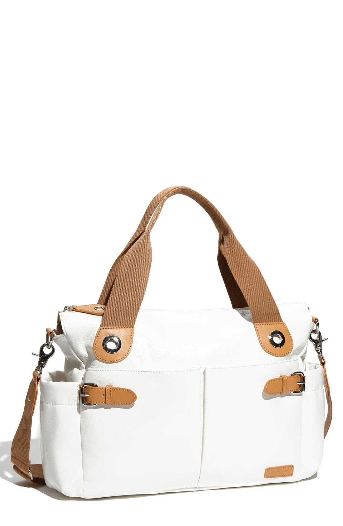 Main Image - Storksak 'Kate' Patent Diaper Bag