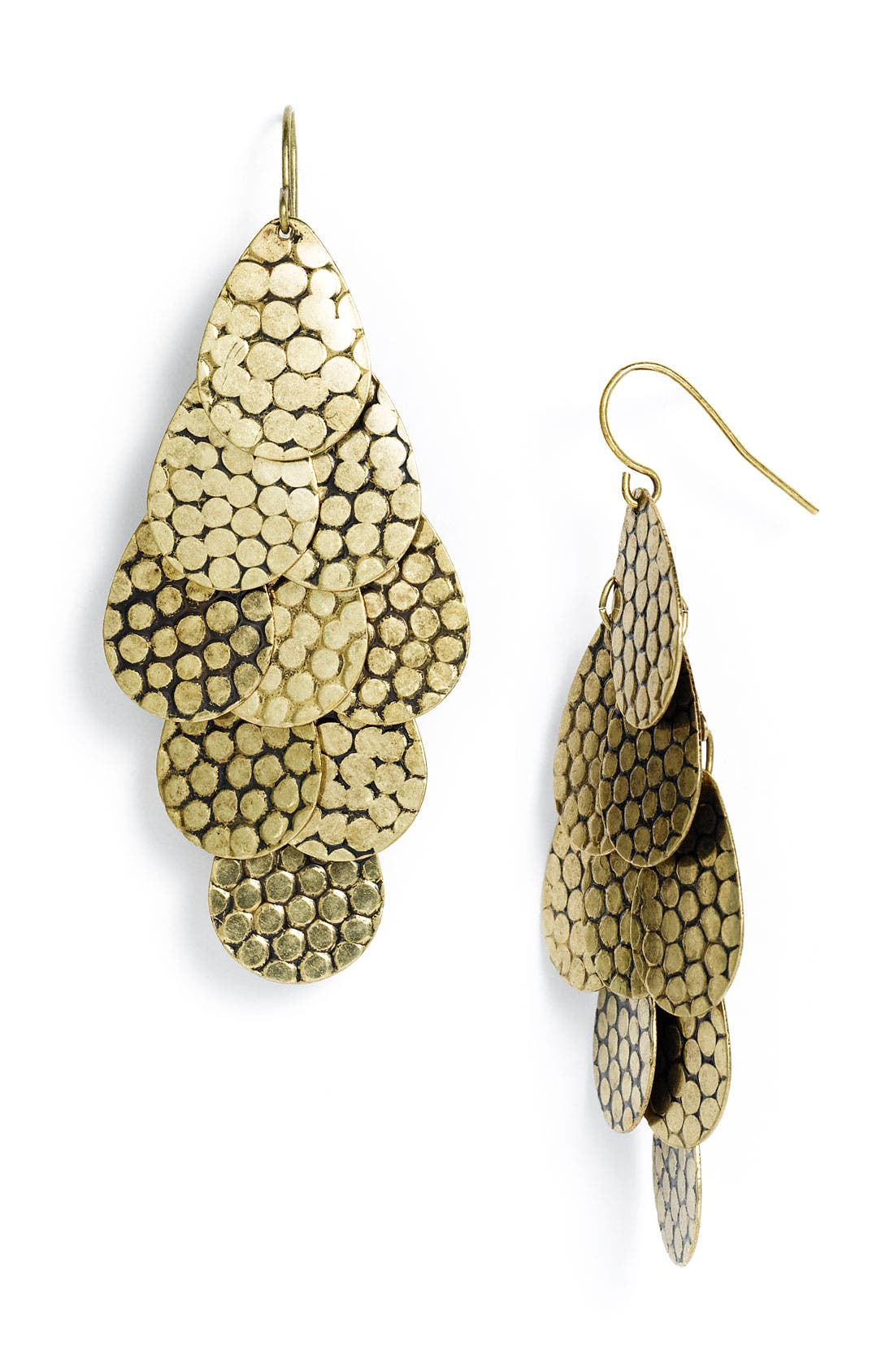 Main Image - Carole Disc Teardrop Earrings