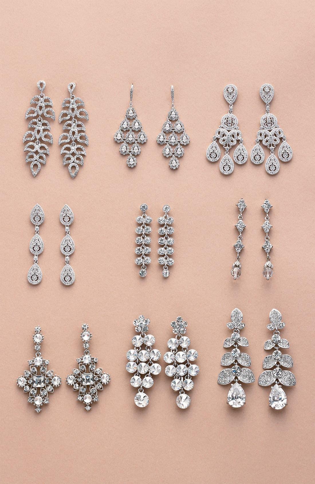 Alternate Image 5  - Nadri Crystal Teardrop Linear Earrings