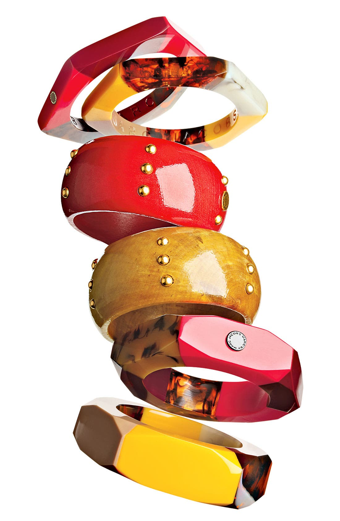 Alternate Image 2  - MARC BY MARC JACOBS 'High Tide' Studded Wood Bangle