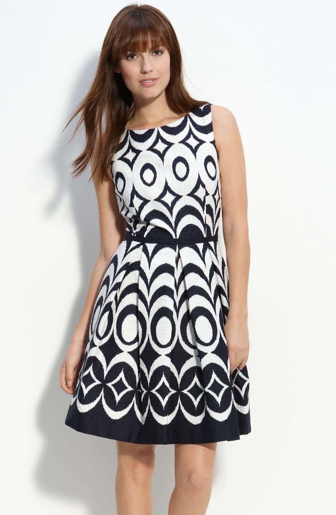 Alternate Image 1 Selected - Taylor Dresses Jacquard Party Dress