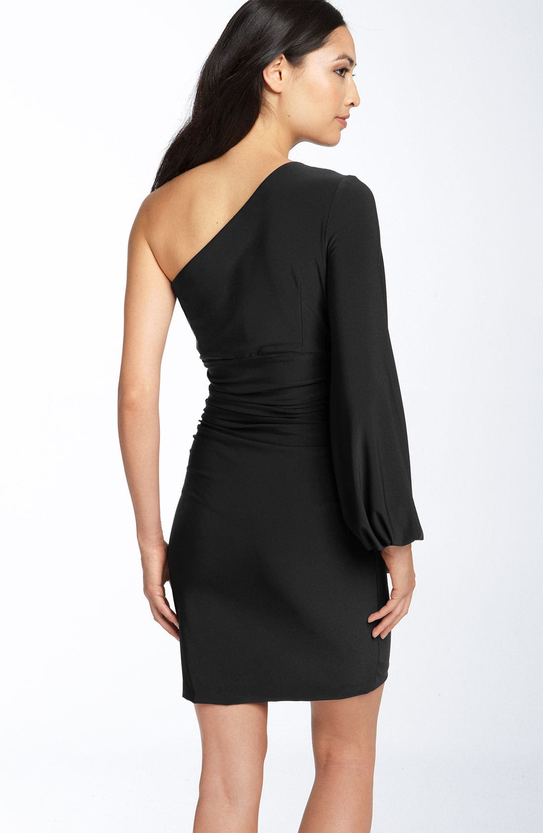 Alternate Image 2  - Maggy London One Shoulder Matte Jersey Dress