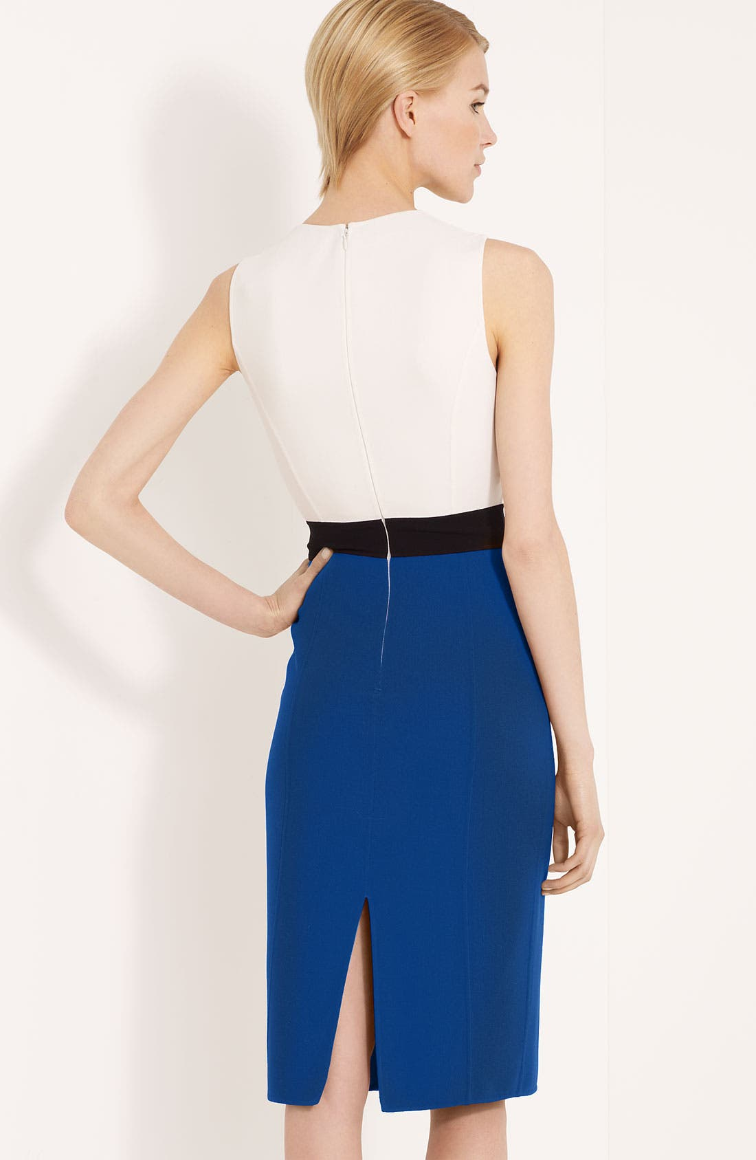 Alternate Image 2  - Michael Kors Colorblock Stretch Wool Crepe Dress