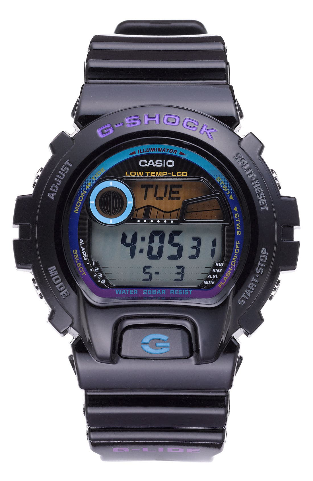 Alternate Image 1 Selected - Casio 'G-Shock 6900 Glide Tidegraph' Watch, 50mm