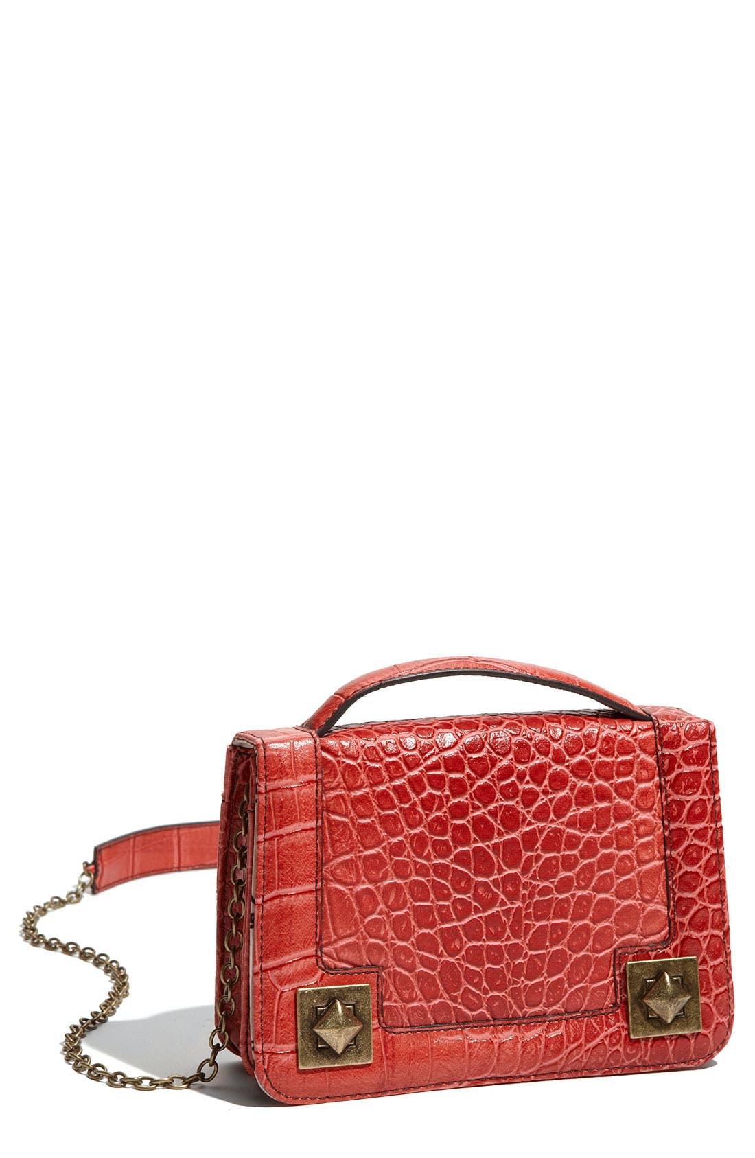 Alternate Image 1 Selected - Jessica Simpson 'Bella' Faux Leather Crossbody Bag