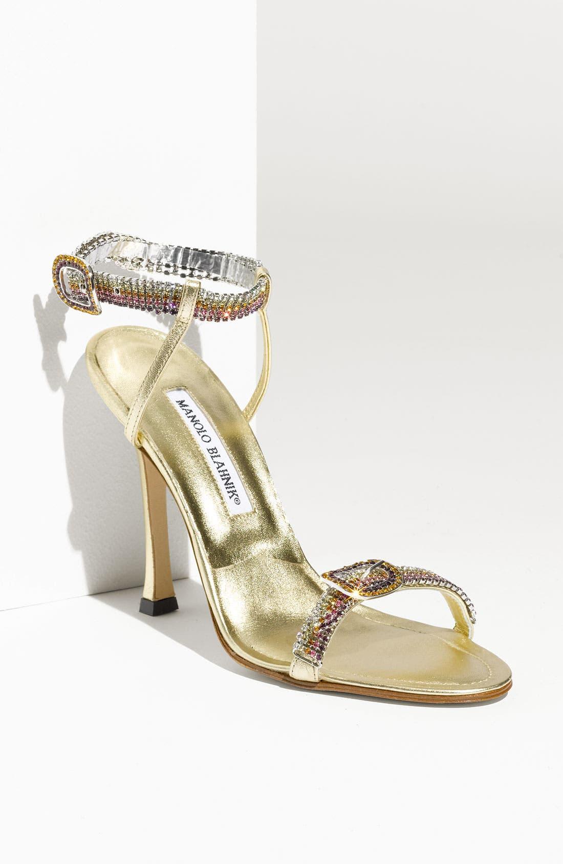 Alternate Image 1 Selected - Manolo Blahnik 'Janetba' Rhinestone Strap Sandal