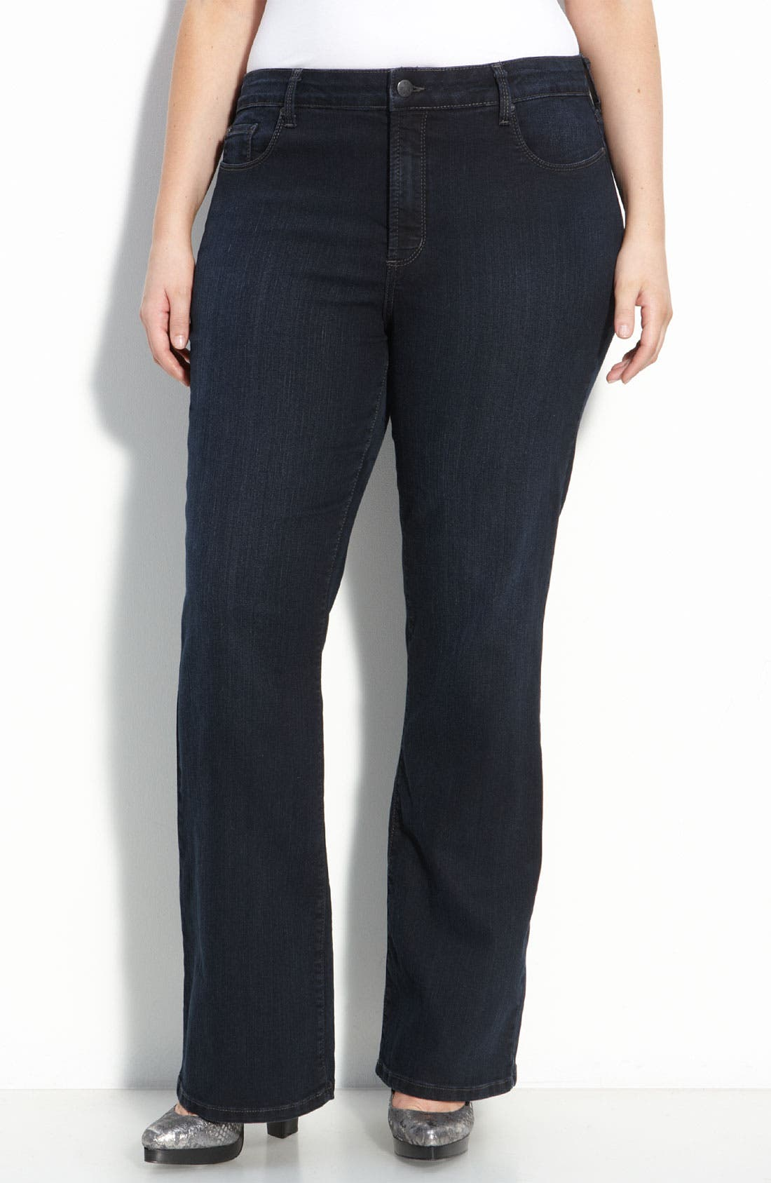 Main Image - Not Your Daughter's Jeans® Flare Leg Stretch Jeans (Storm Wash) (Plus)