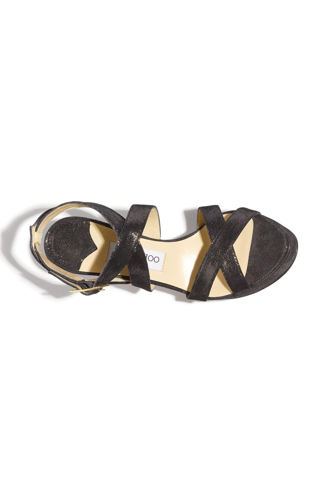 Alternate Image 3  - Jimmy Choo 'Vamp' Glitter Suede Sandal