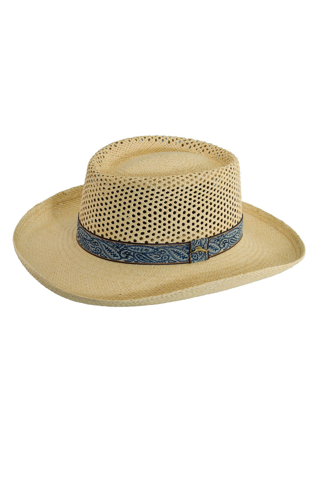 Alternate Image 1 Selected - Tommy Bahama Paisley Band Panama Straw Fedora