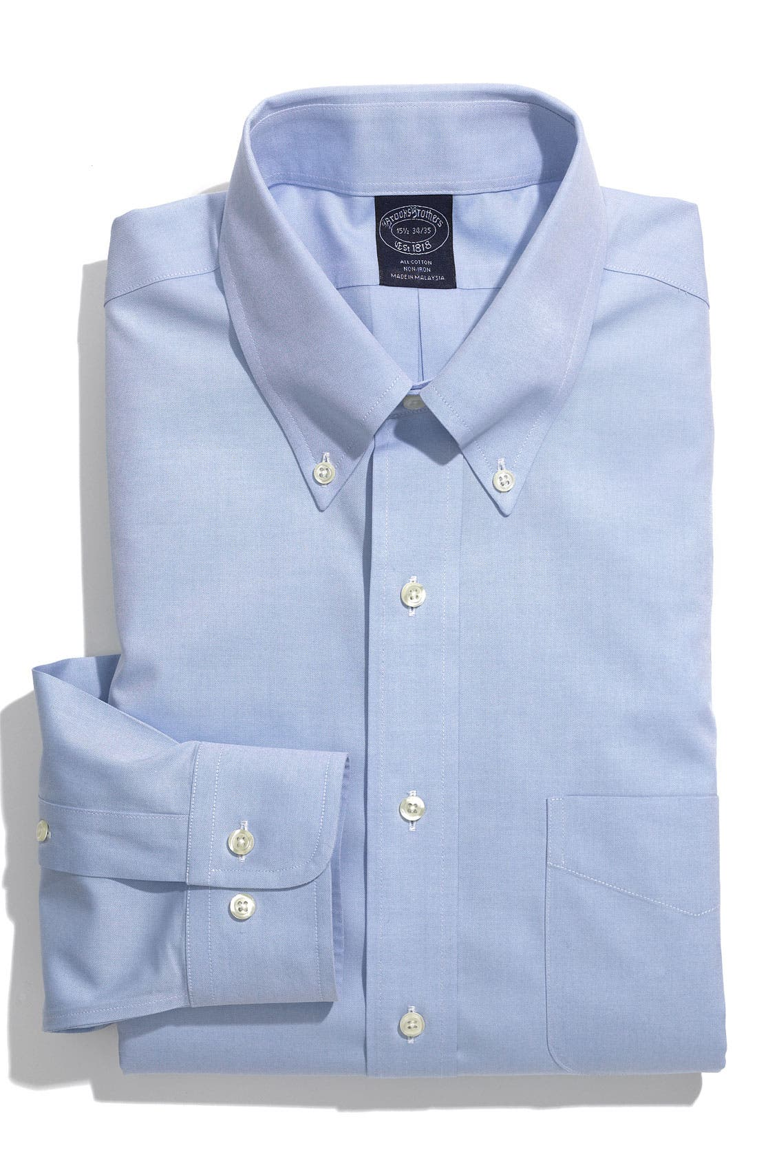Main Image - Brooks Brothers Regular Fit Non-Iron Dress Shirt