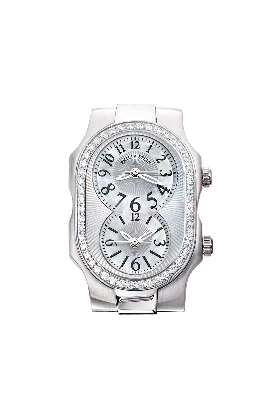 Main Image - Philip Stein® 'Signature' Small Diamond & Mother-of-Pearl Watch Case
