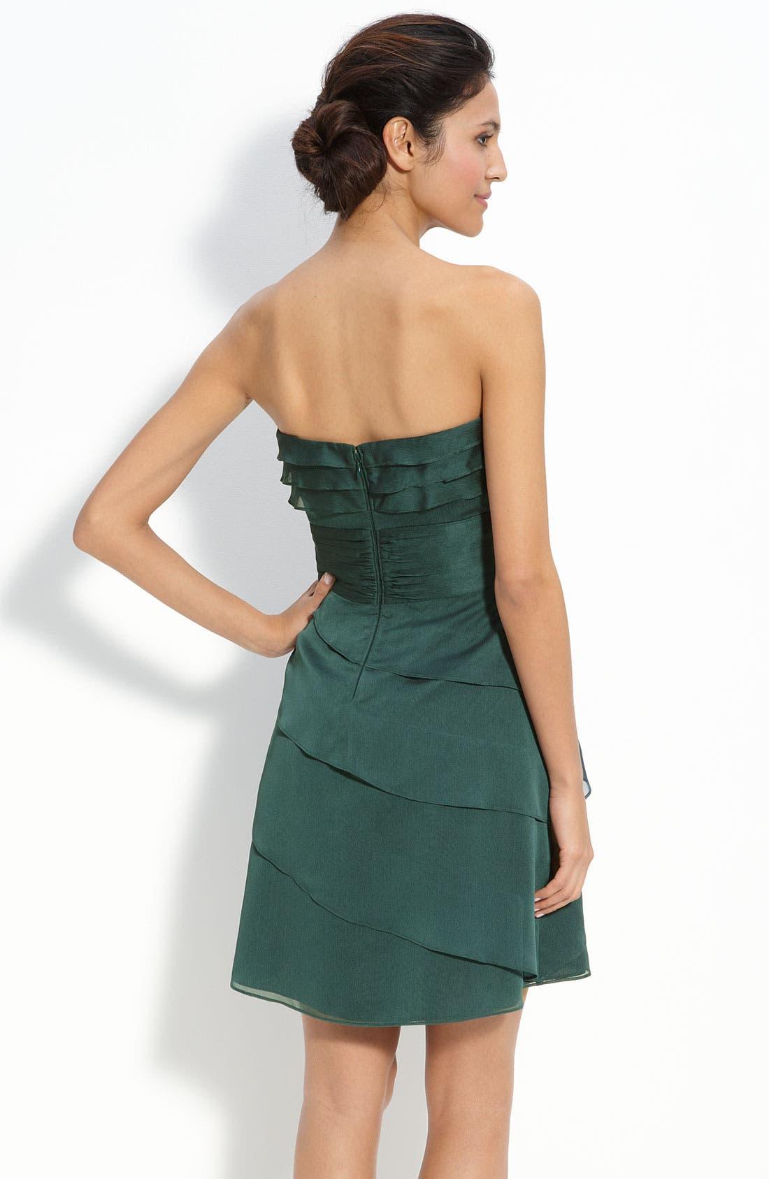 Alternate Image 2  - Adrianna Papell Tiered Iridescent Chiffon Dress
