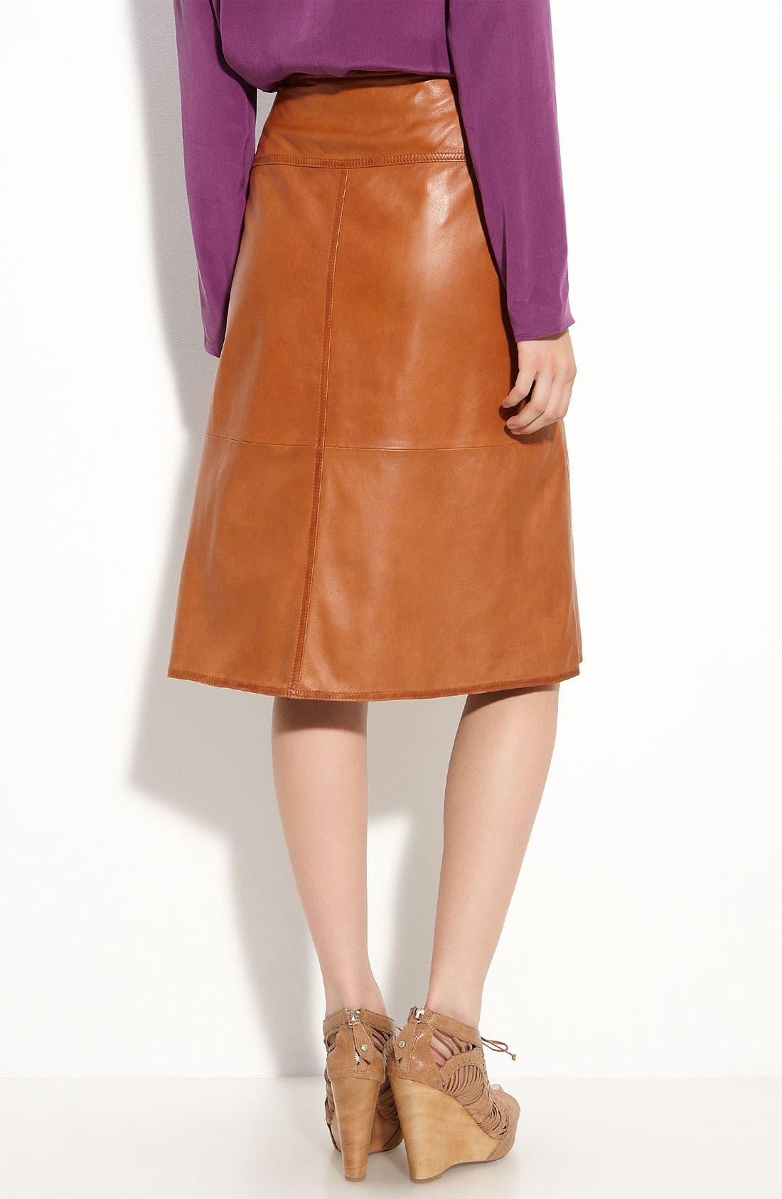Alternate Image 2  - Leith Leather Midi Skirt