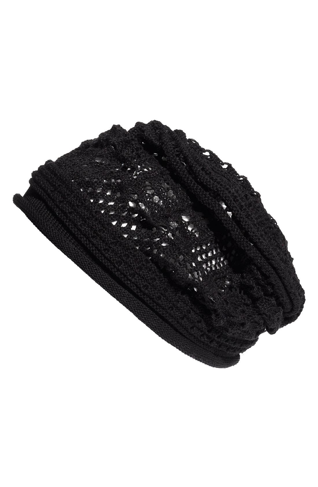 Alternate Image 1 Selected - Cara Accessories Open Knit Beanie