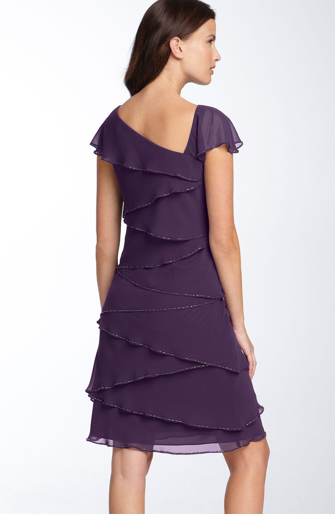 Alternate Image 2  - Patra Asymmetrical Chiffon Sheath Dress