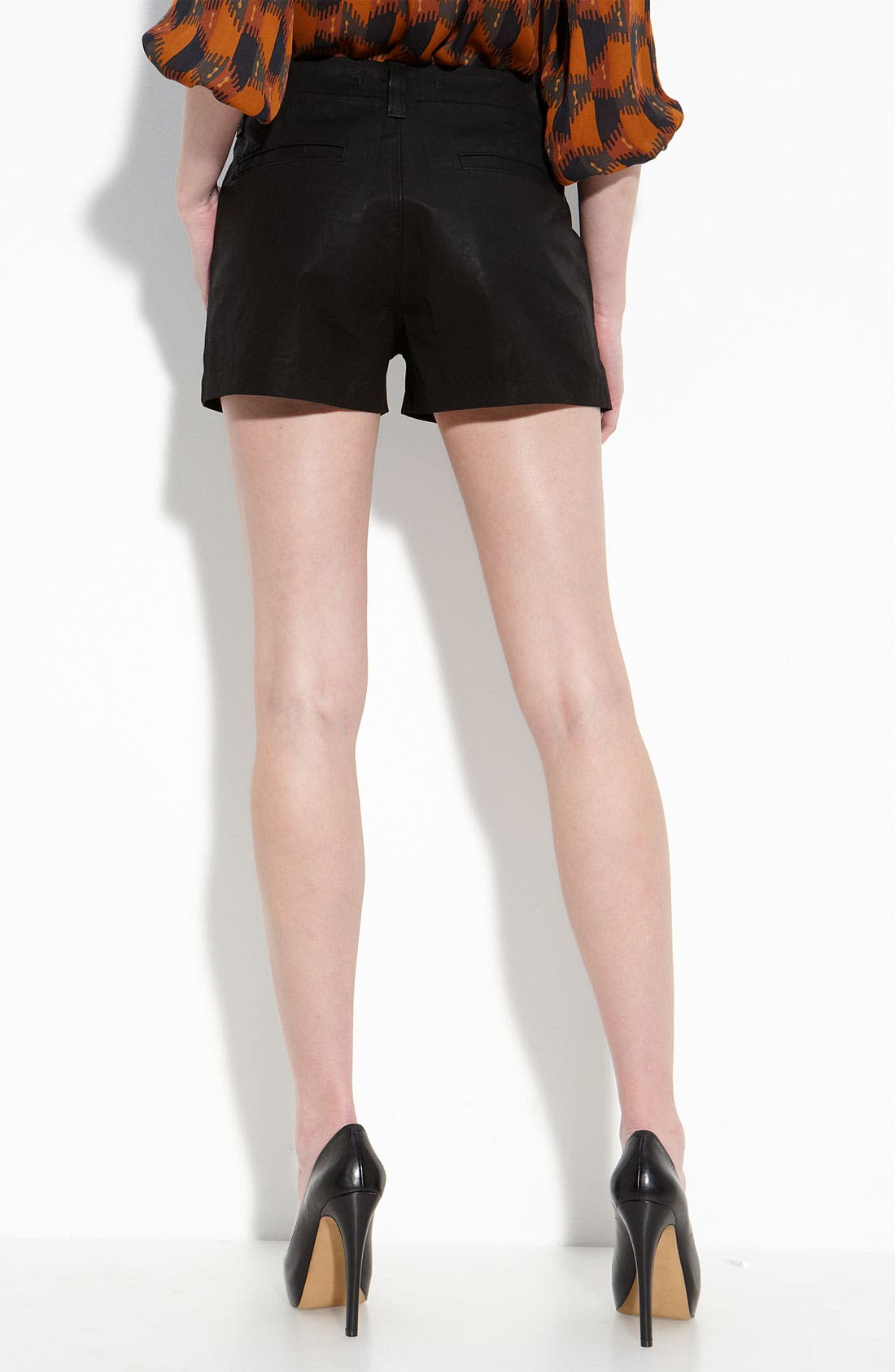 Alternate Image 2  - J Brand 'Lola' High Rise Wax Coated Denim Shorts