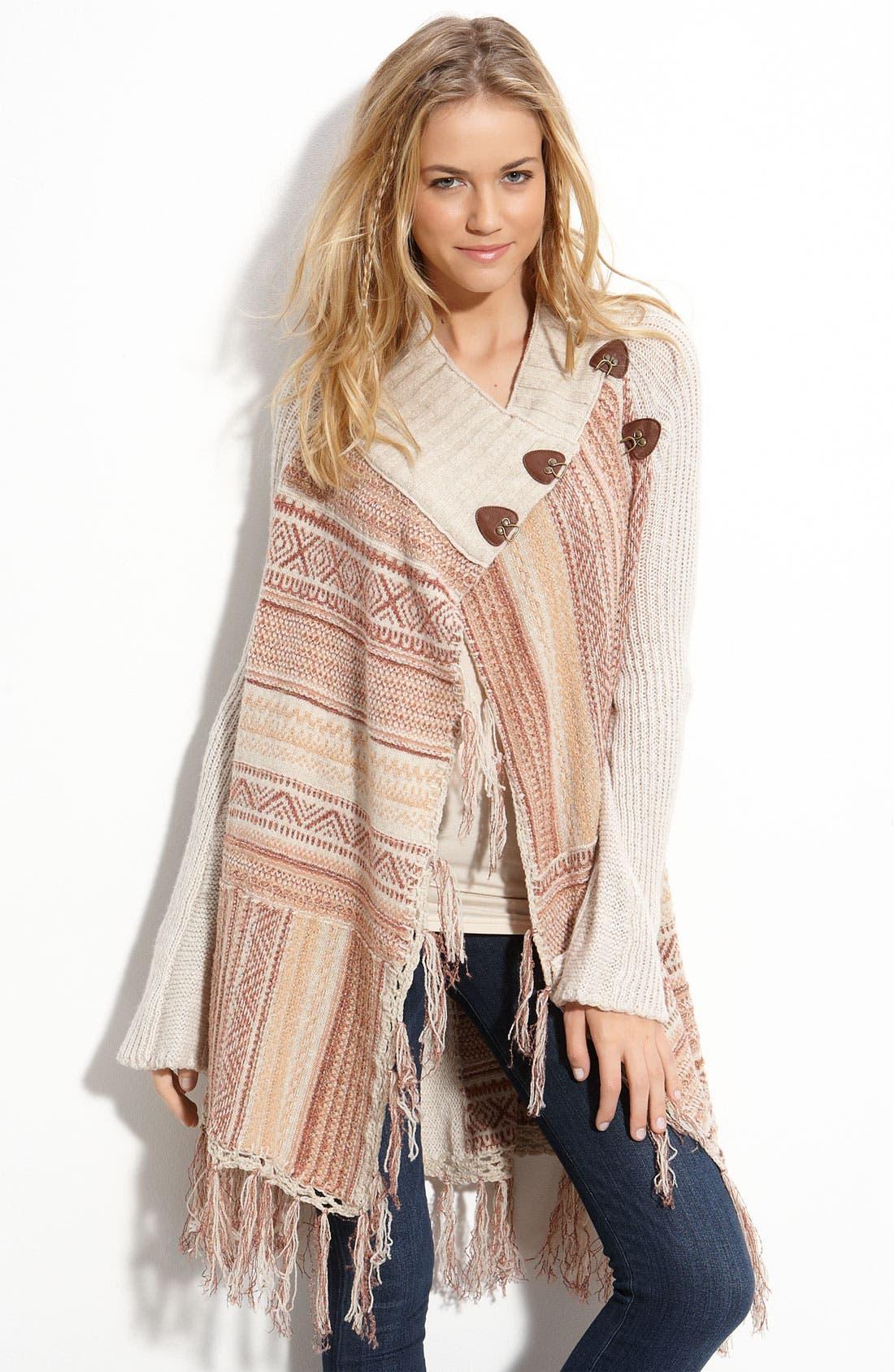 Alternate Image 1 Selected - Free People 'Maple Leaf' Wrap Sweater