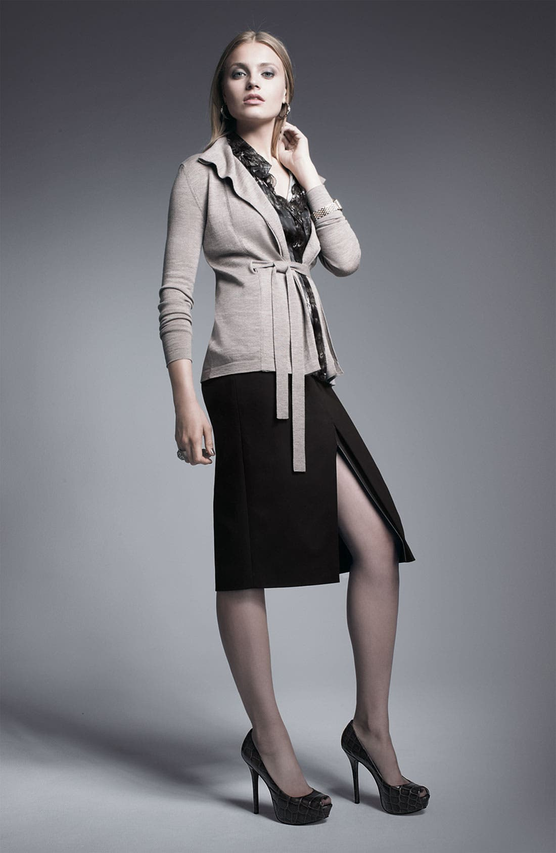 Alternate Image 3  - Elie Tahari Exclusive for Nordstrom 'Julie' Knit Skirt