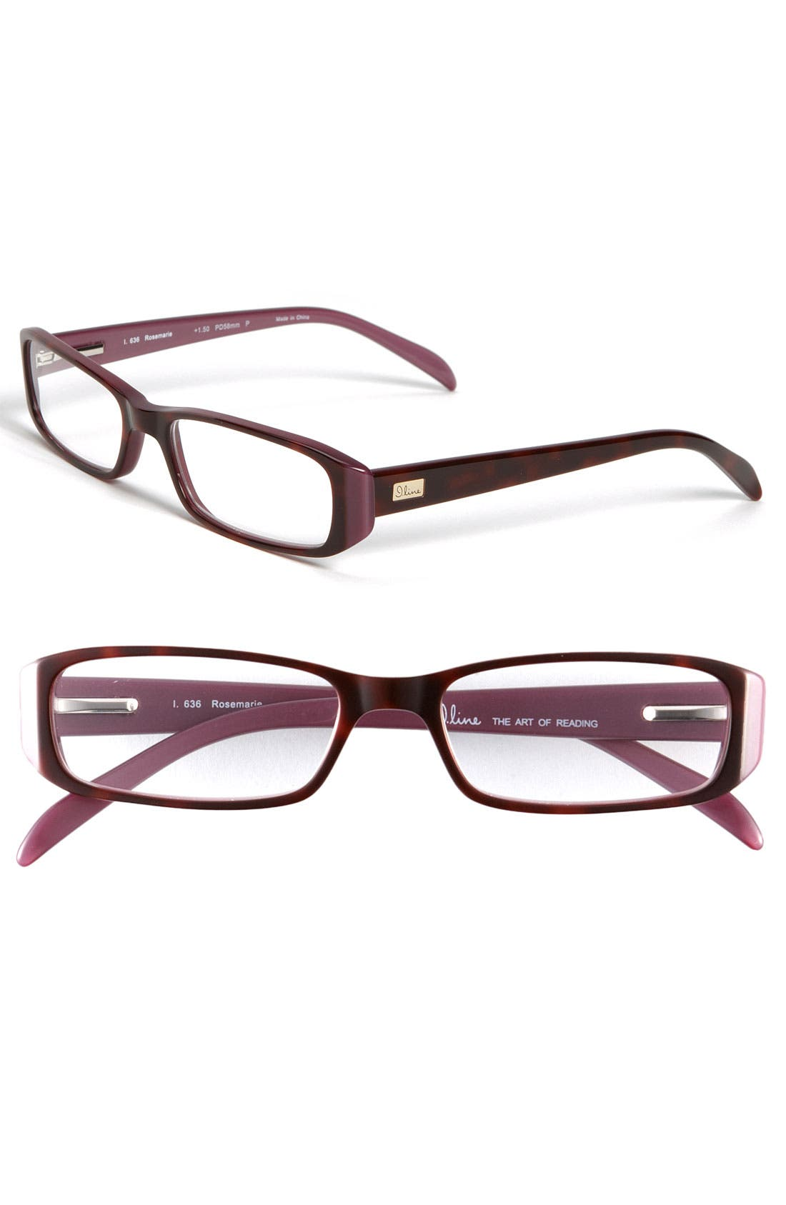 Alternate Image 1 Selected - I Line Eyewear 'Rosemarie' Reading Glasses