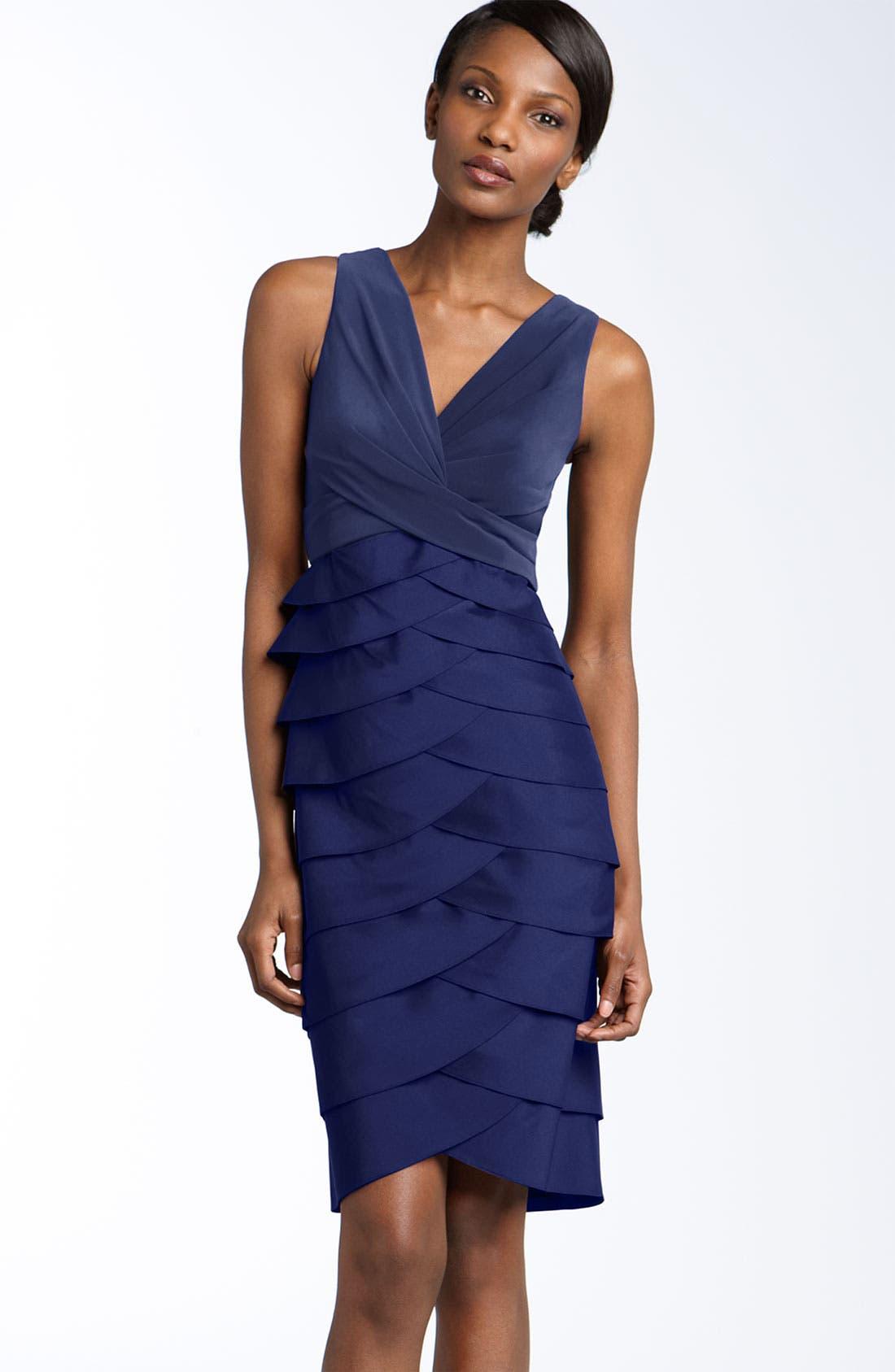Main Image - Adrianna Papell Jersey & Taffeta Sheath Dress